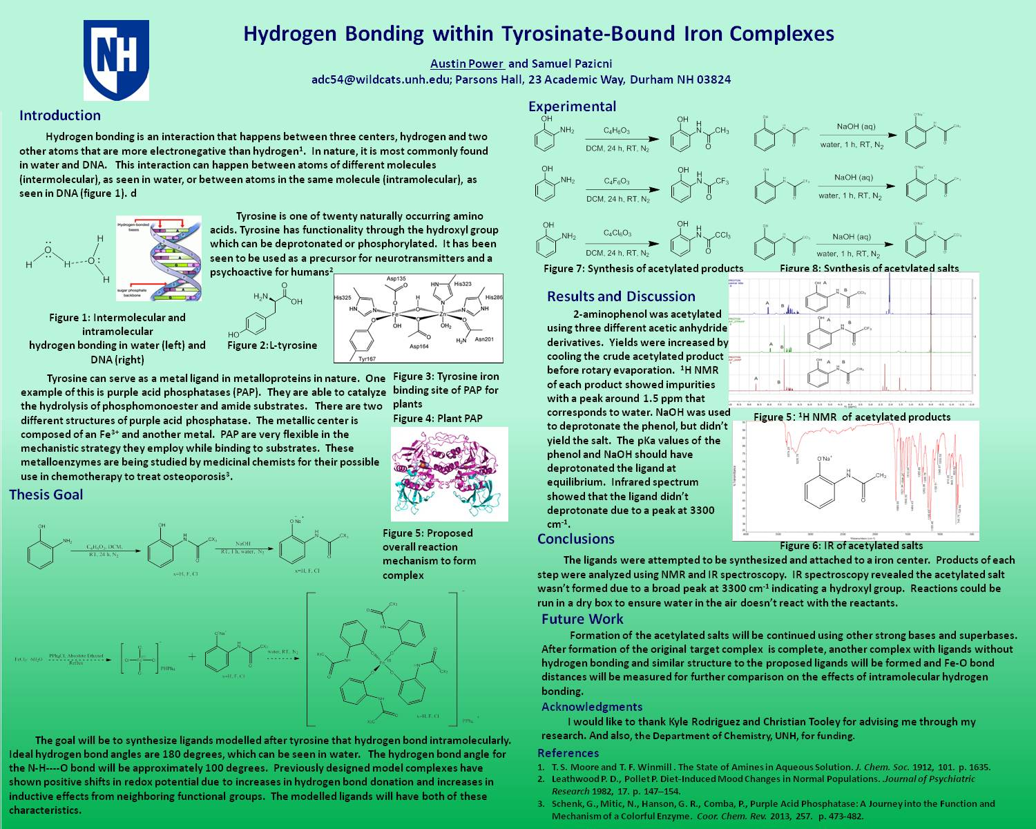 Hydrogen Bonding Within Tyrosinate-Bound Iron Complexes by adc54