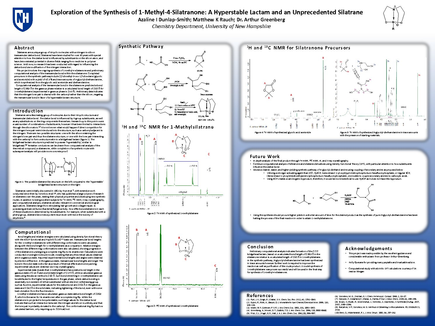 Exploration Of The Synthesis Of 1-Methyl-4-Silatranone: A Hyperstable Lactam And Unprecedented Silatrane by aiw23