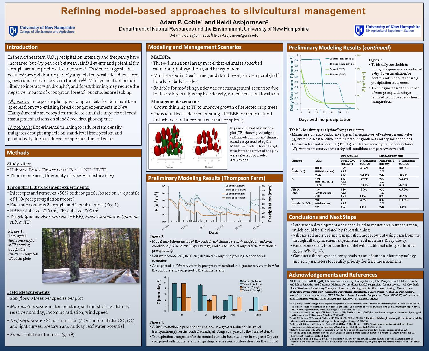 Refining Model-Based Approaches To Silvicultural Management by apc1016