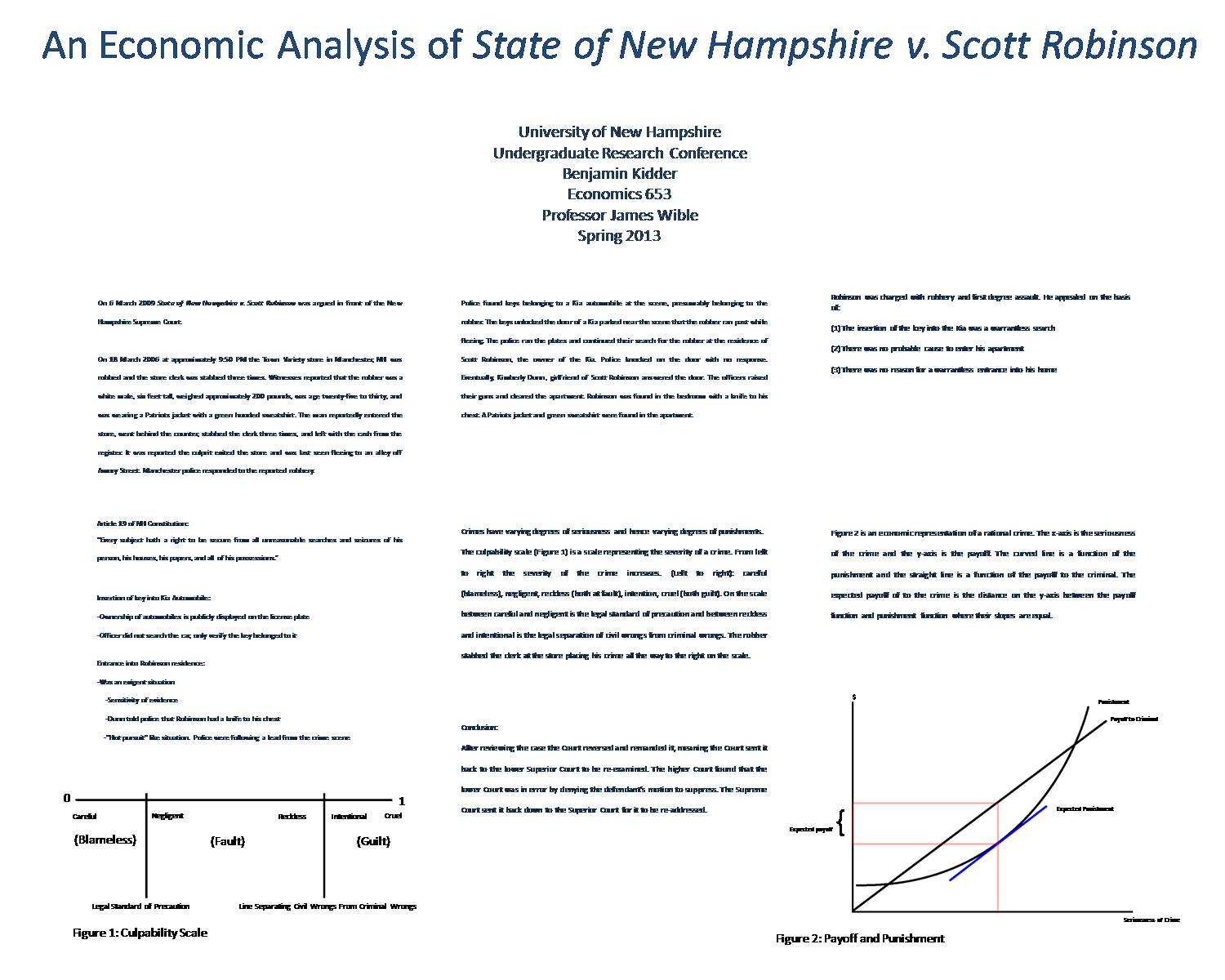 An Economics Analysis Of State Of New Hampshire V. Scott Robinson by benjaminpk