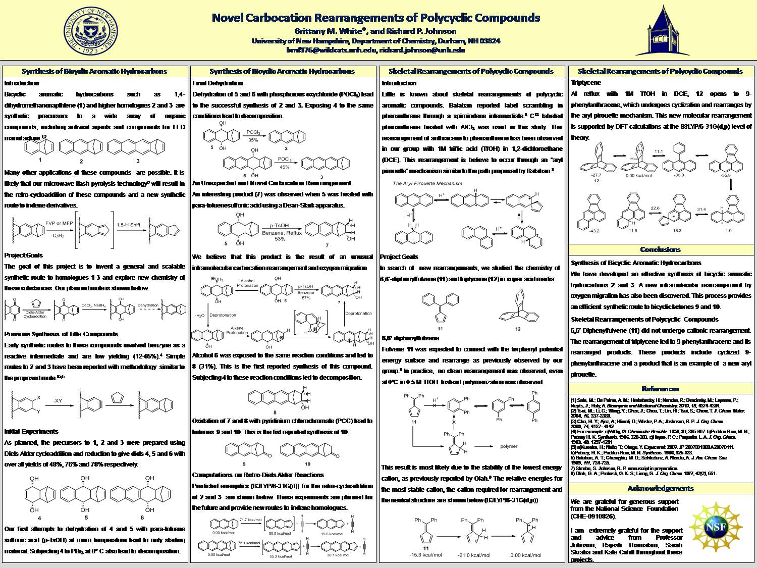 Novel Carbocation Rearrangements Of Polycyclic Compounds by bmf376