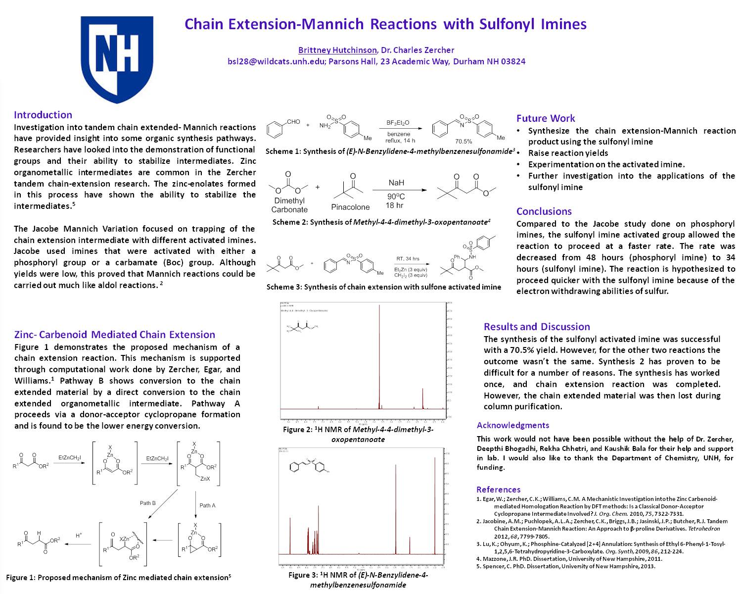 Chain Extension Mannich Reactions With Sulfonyl Imines by brittney1718