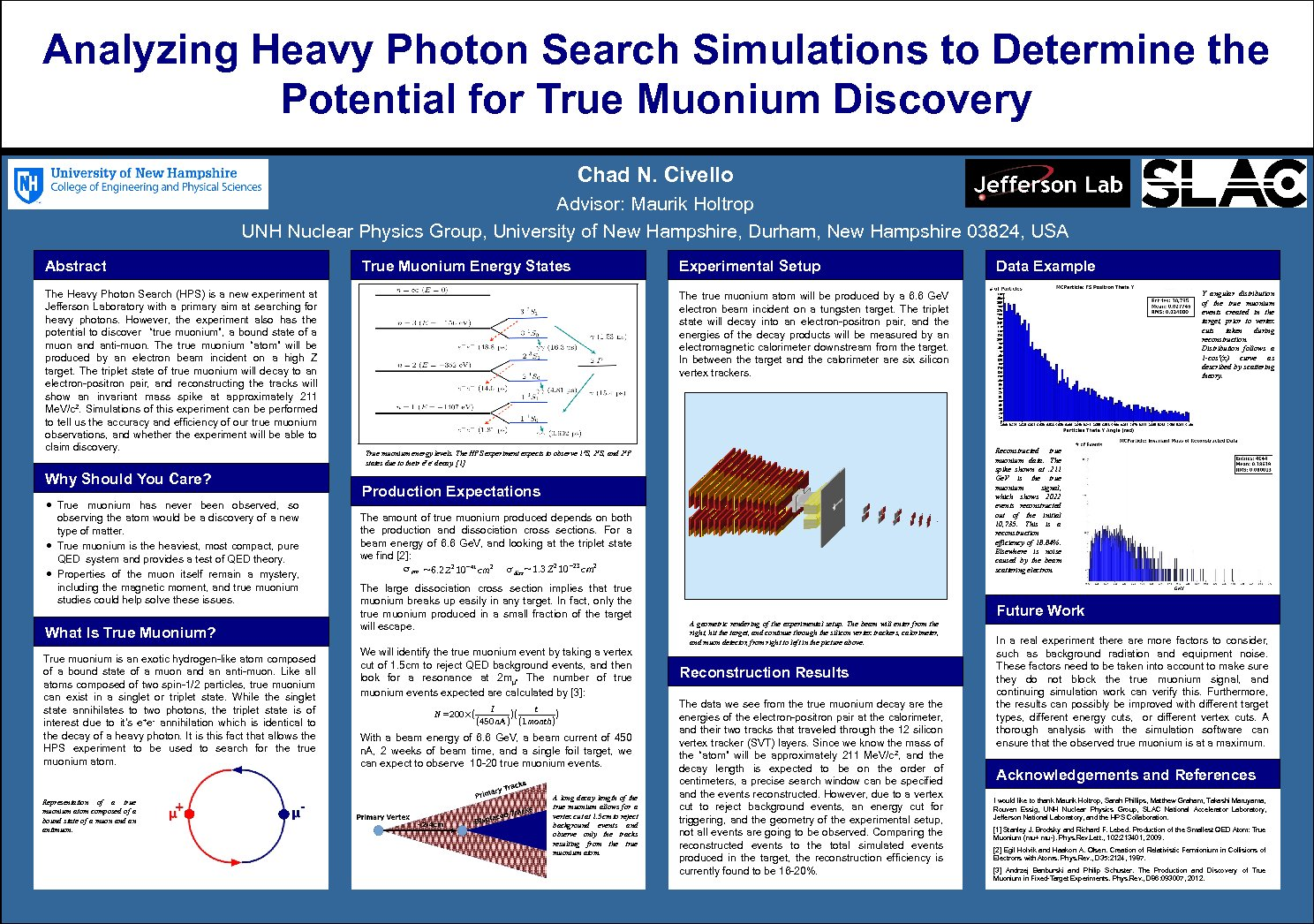 Analyzing Heavy Photon Search Simulations To Determine The Potential For True Muonium Discovery by cng8