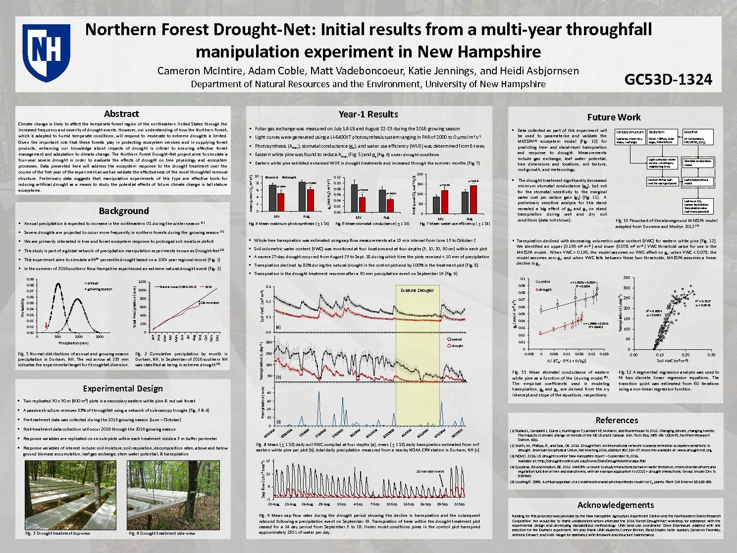 Northern Forest Drought-Net: Initial Results From A Multi-Year Throughfall Manipulation Experiment In New Hampshire by cm11