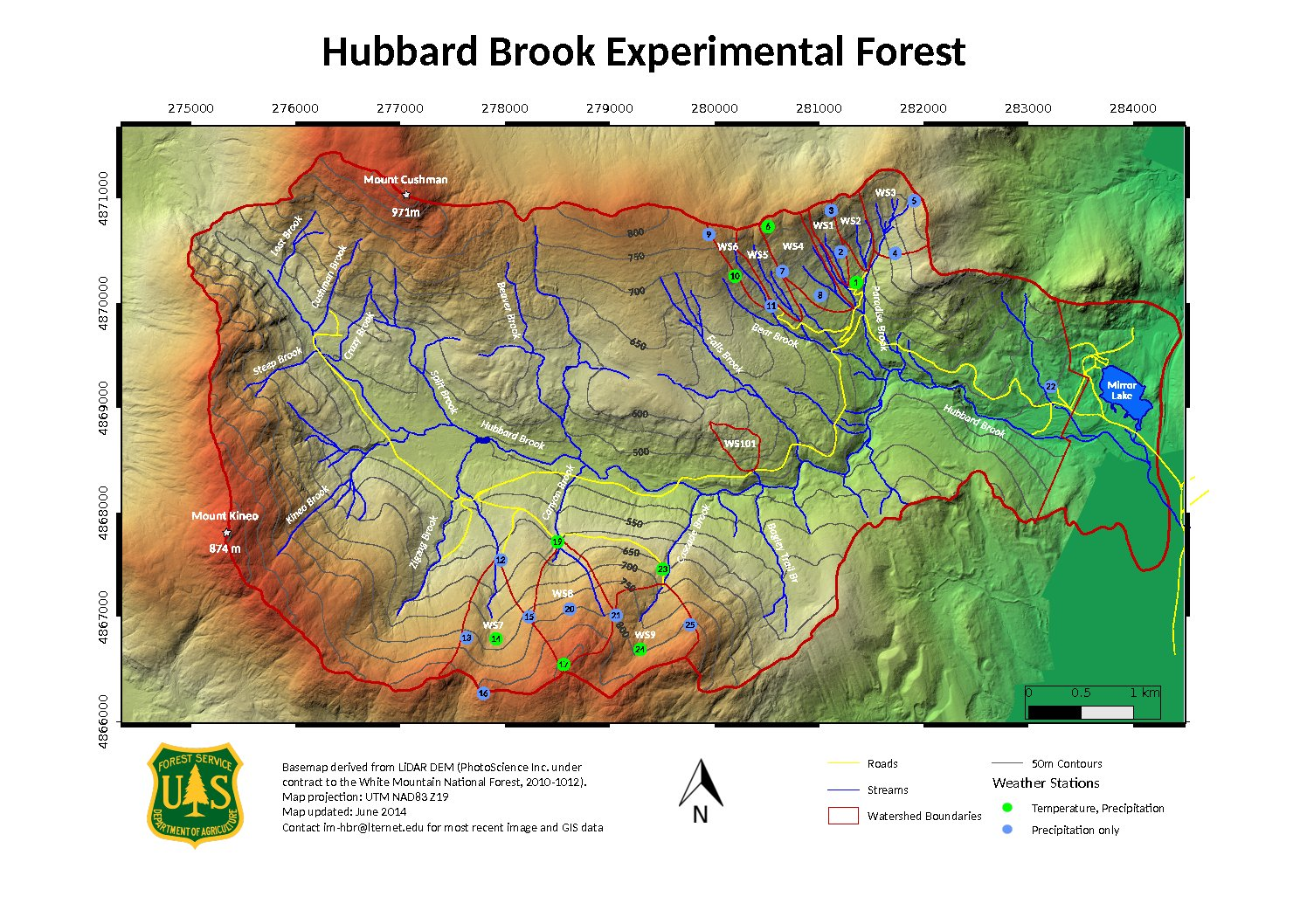 Hubbard Brook Wall Map by mmartin