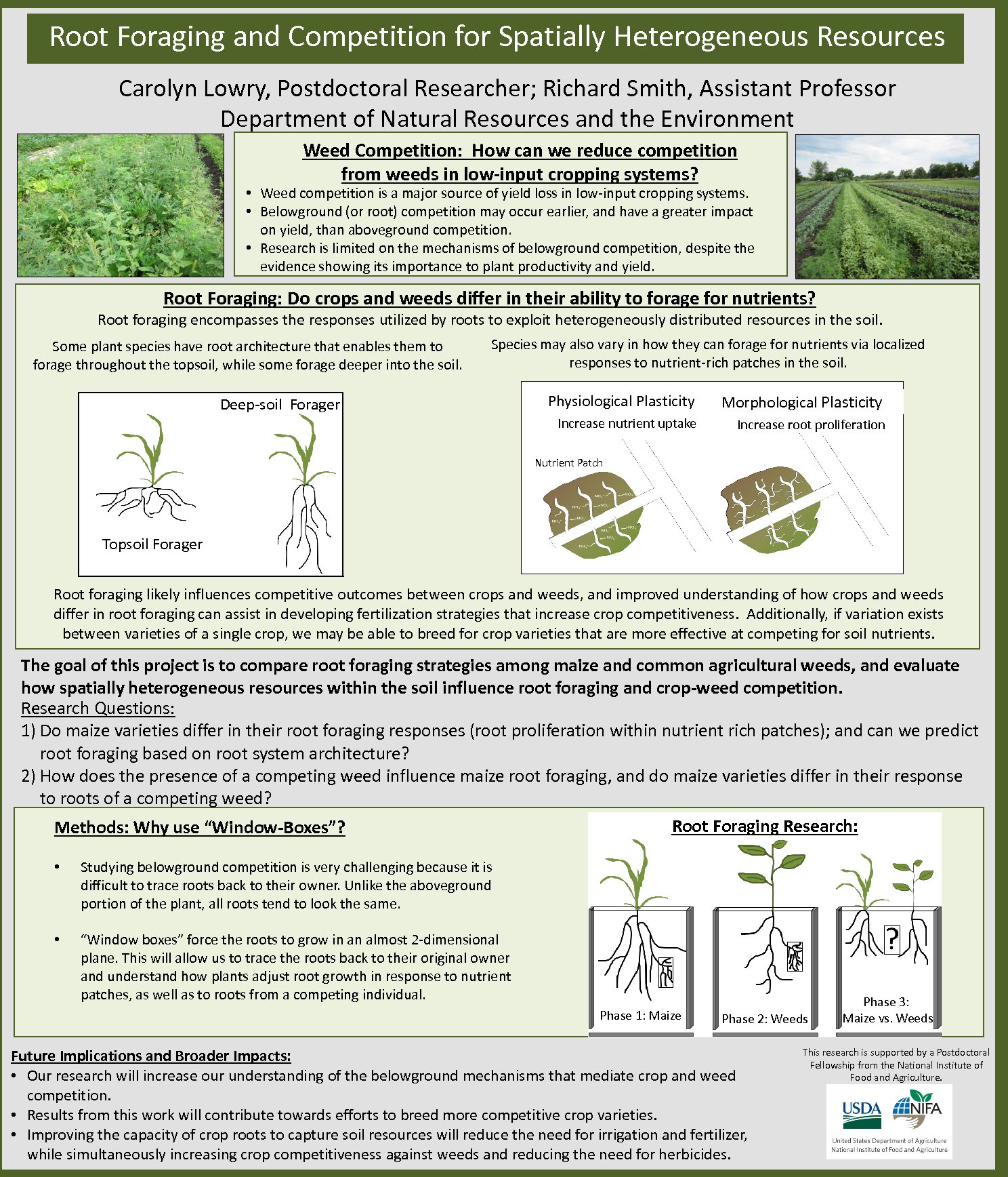 Root Foraging And Competition For Spatially Heterogeneous Resources by cl1107