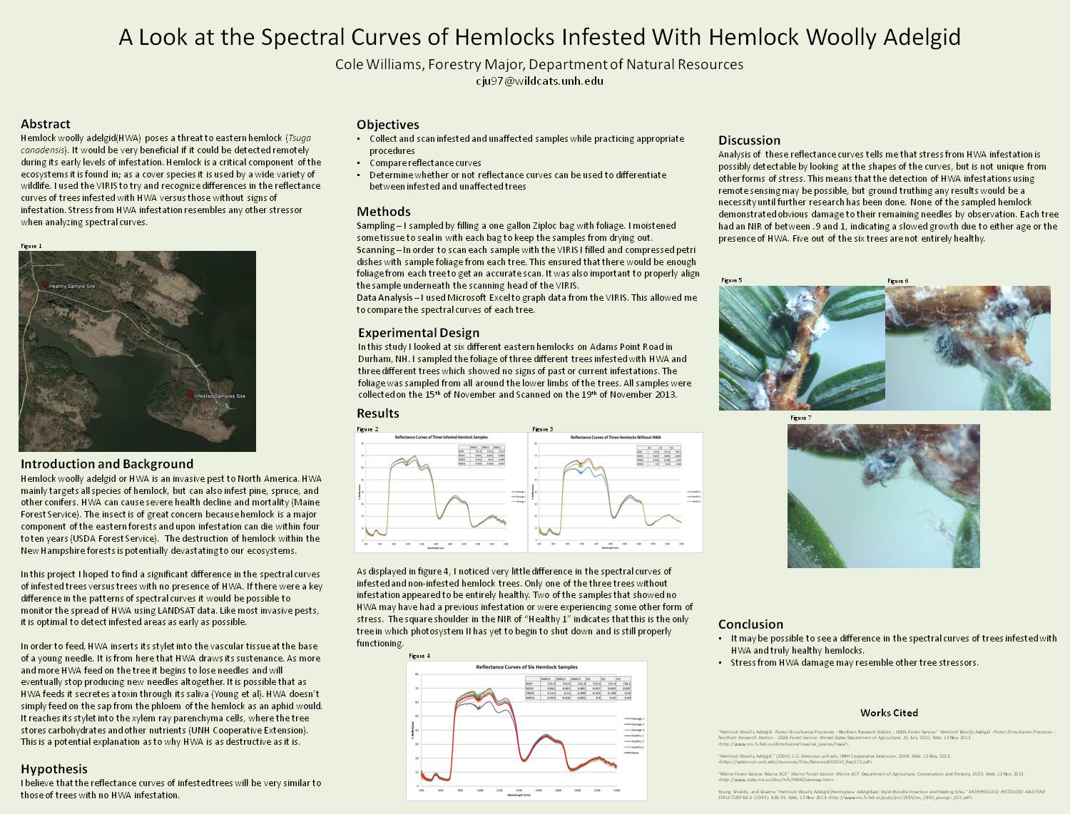 A Look At The Spectral Curves Of Hemlocks Infested With Hemlock Woolly Adelgid by cju97