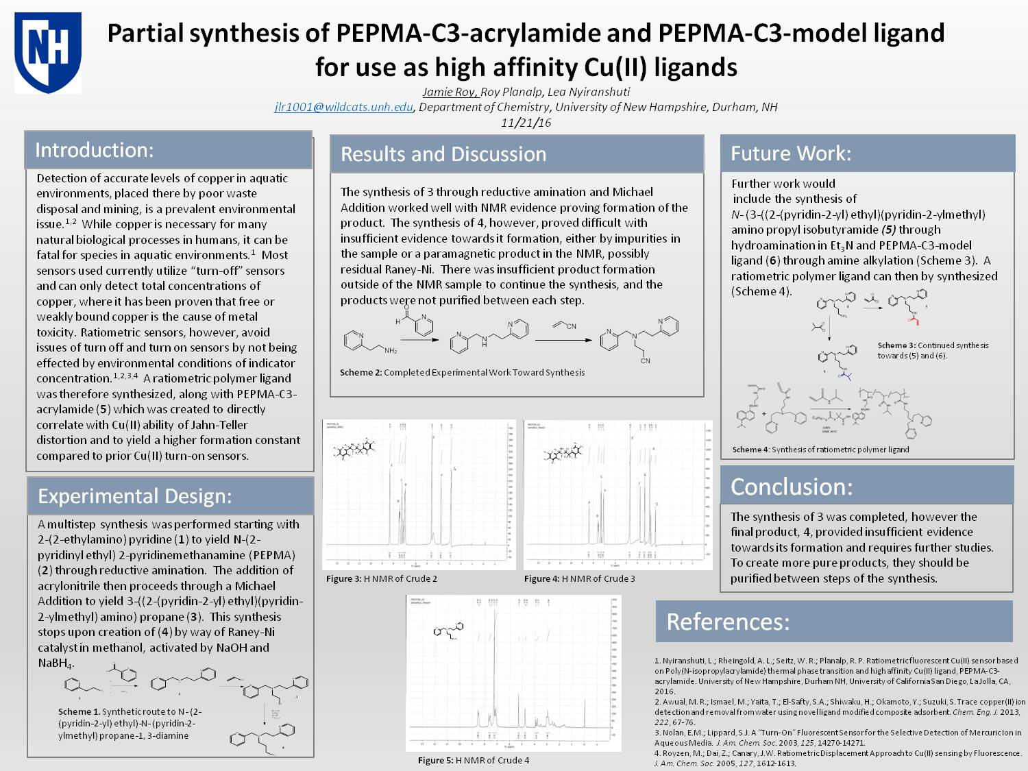 Partial Synthesis Of Pepma-C3-Acrylamide And Pepma-C3-Model Ligand For Use As High Affinity Cu(Ii) Ligands  by jlr1001