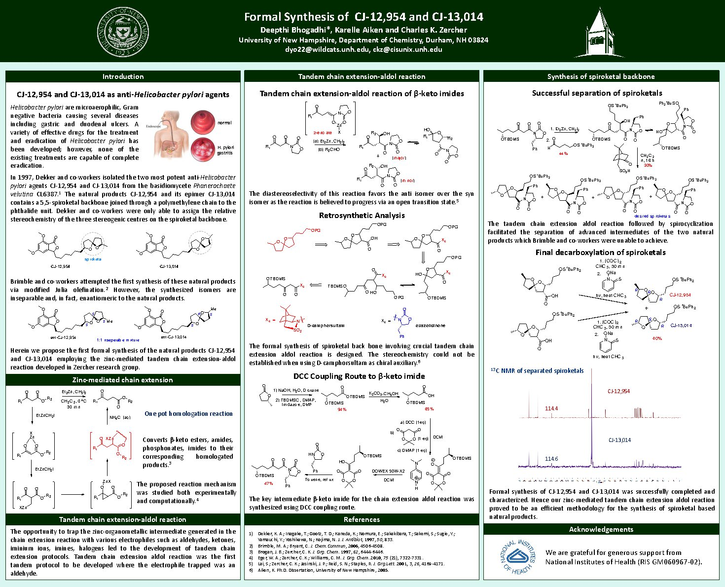 Formal Synthesis Of Cj-12,954 And Cj-13,014 by Deepthi