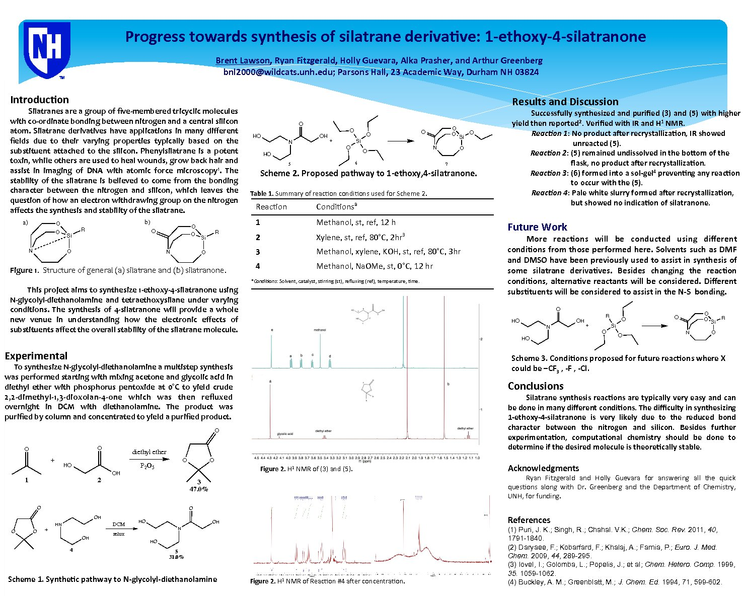 Progress Towards Synthesis Of Silatrane Derivative: 1-Ethoxy-4-Silatrane by bnl2000