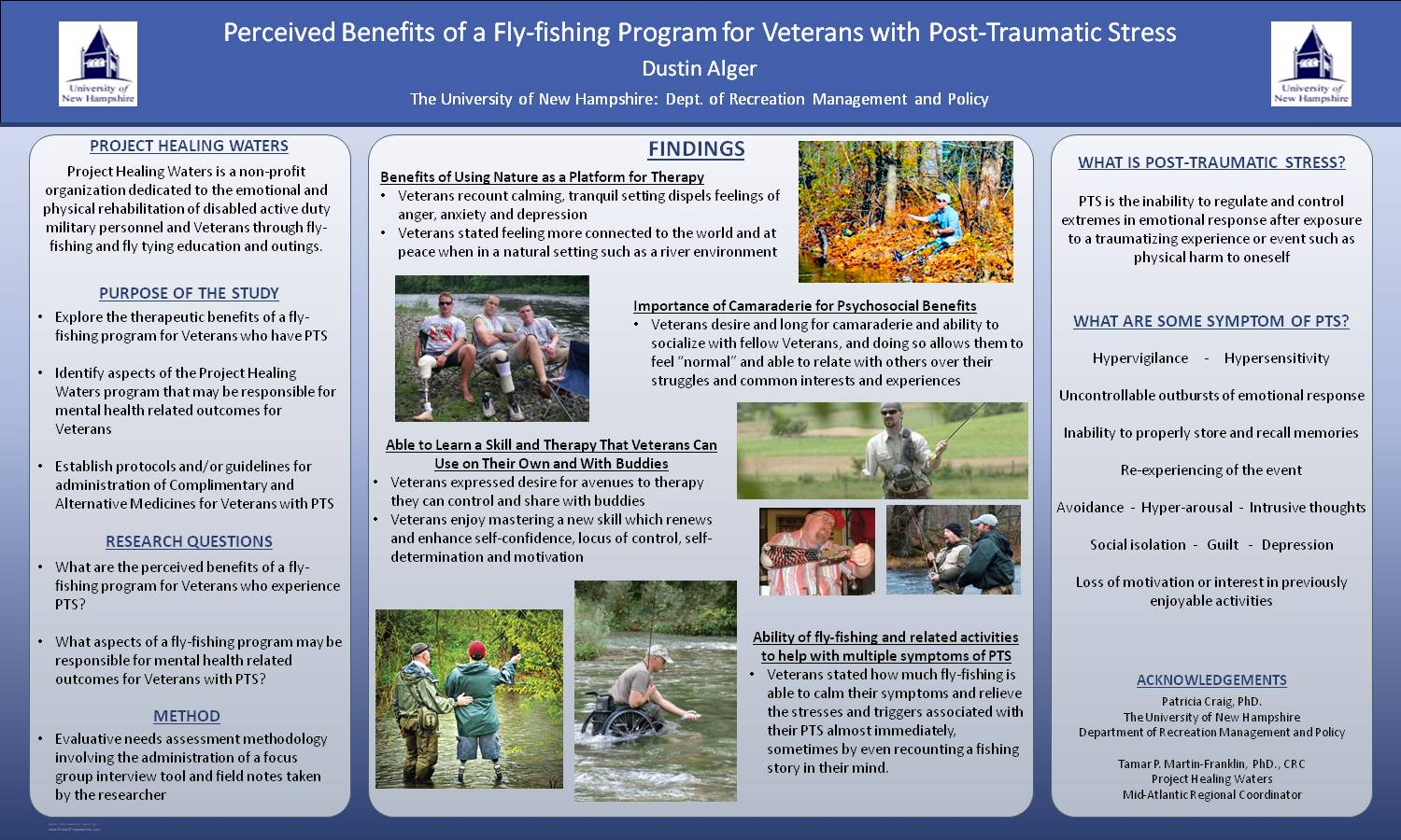 Perceived Benefits Of A Fly-Fishing Program For Veterans With Post-Traumatic Stress by dmo256