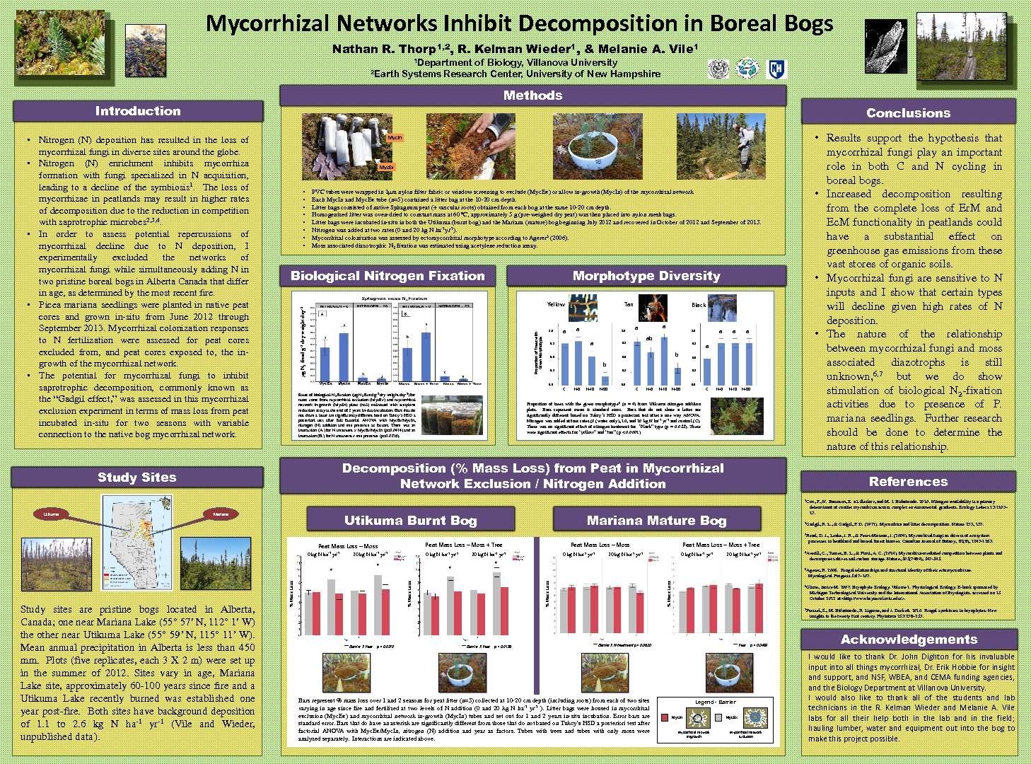 Mycorrhizal Networks Inhibit Decomposition In Boreal Bogs by nthorp