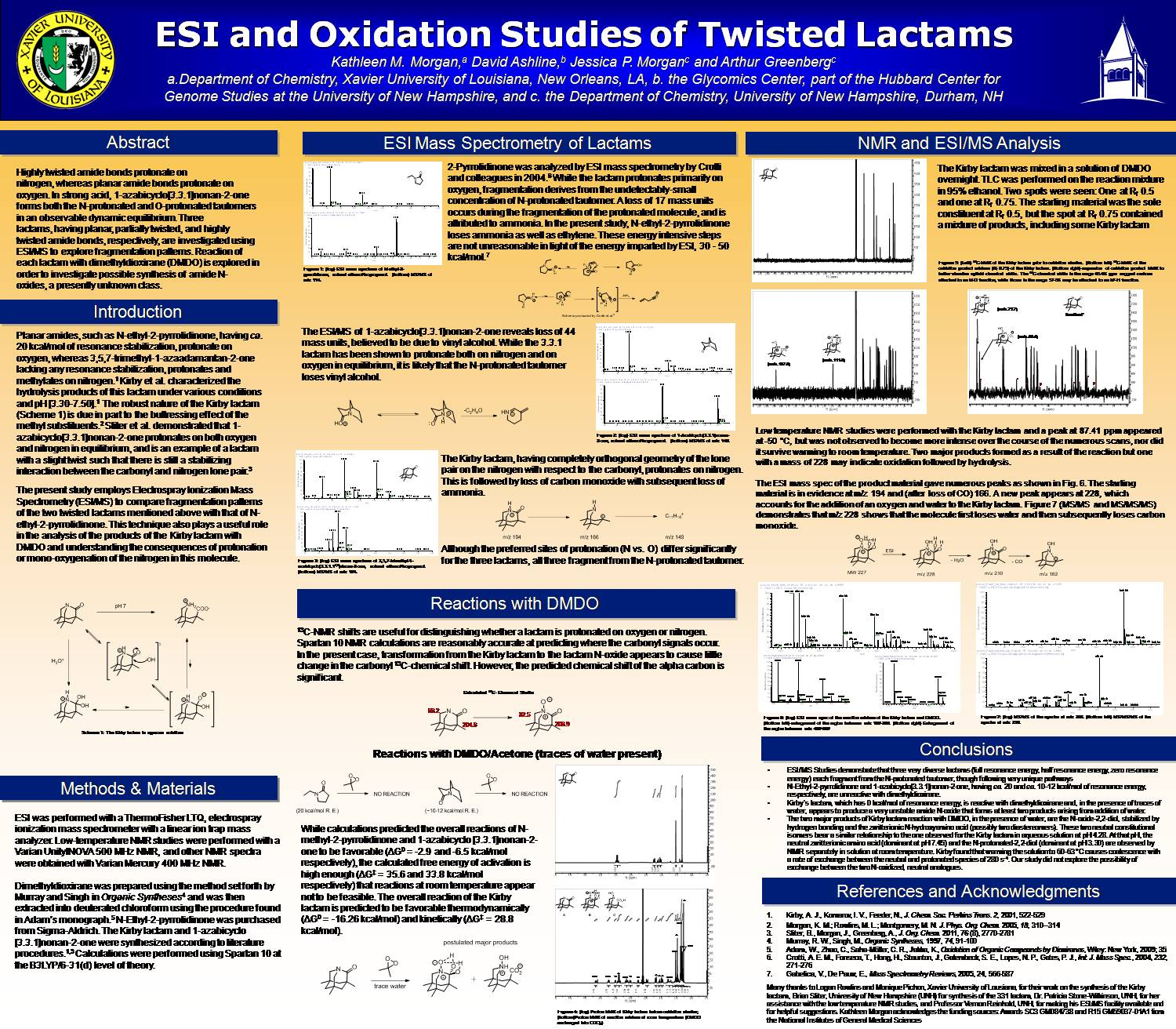 Esi And Oxidation Studies Of Twisted Lactams by jessmorgan1178