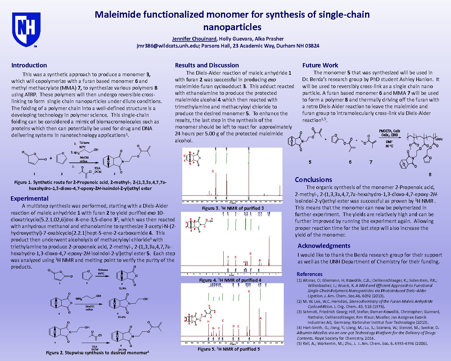 Maleimide Functionalized Monomer For Synthesis Of Single-Chain Nanoparticles by jmr386