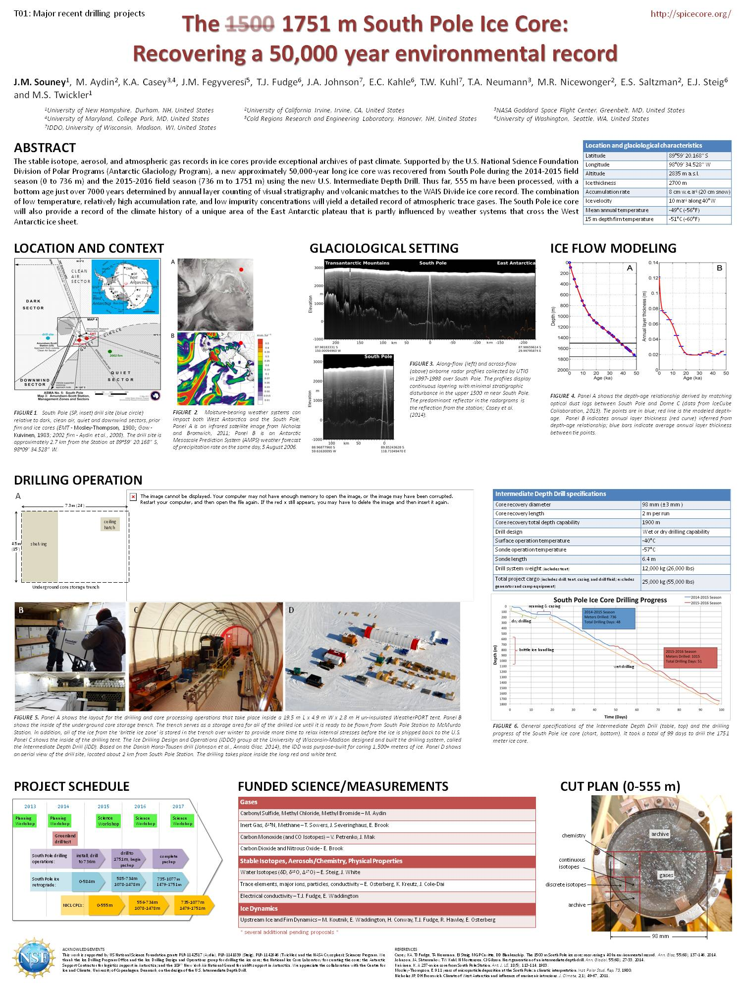South Pole Ice Core Poster For Ipics 2nd Open Science Conference by jmsouney