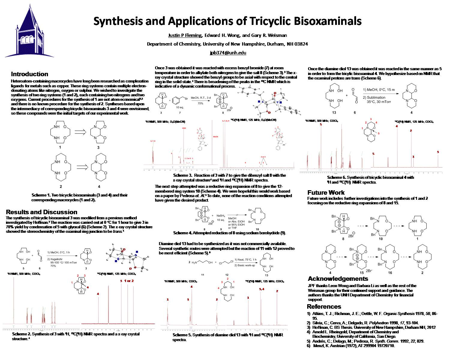 Synthesis And Applications Of Tricyclic Bisoxaminals by jpb374