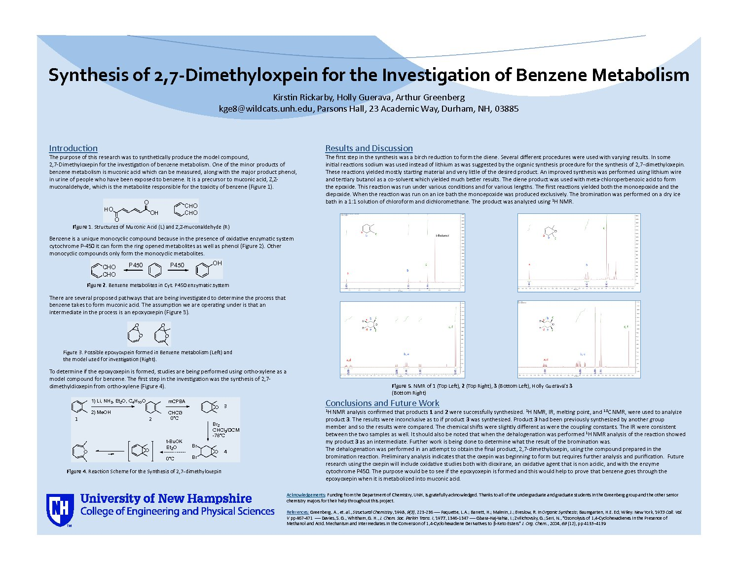 Synthesis Of 2,7-Dimethyloxepin For The Investigation Of Benzene Metabolism by kge8