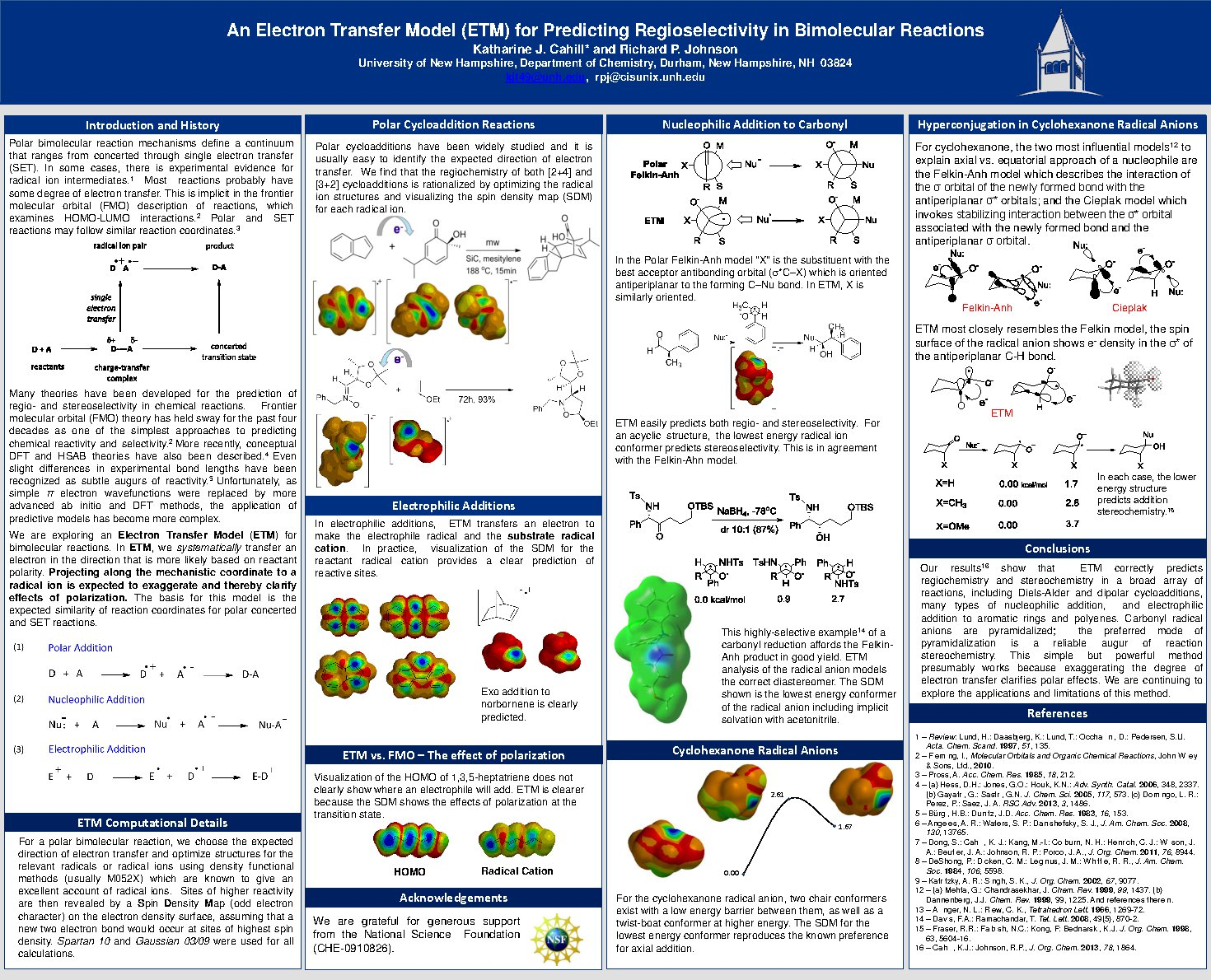 An Electron Transfer Model (Etm) For Predicting Regioselectivity In Bimolecular Reactions by kjt49