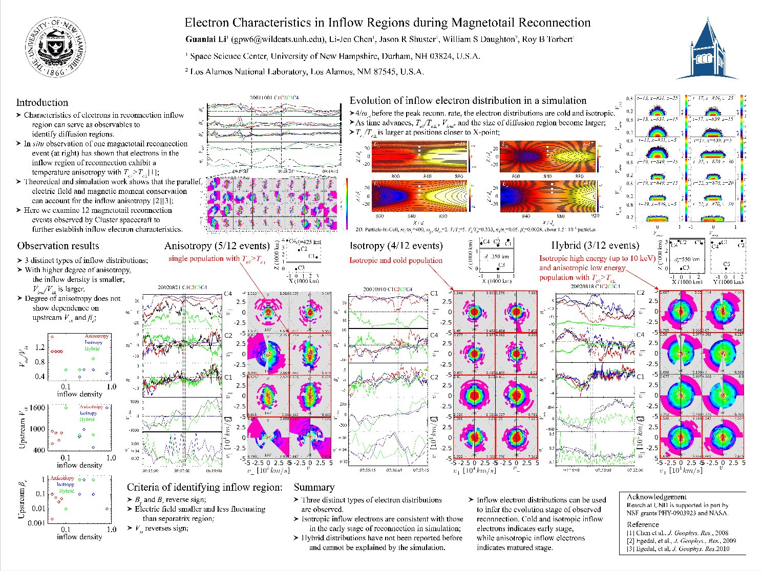 Electron Characteristics In Inflow Regions During Magnetotail Reconnection by liguanlai