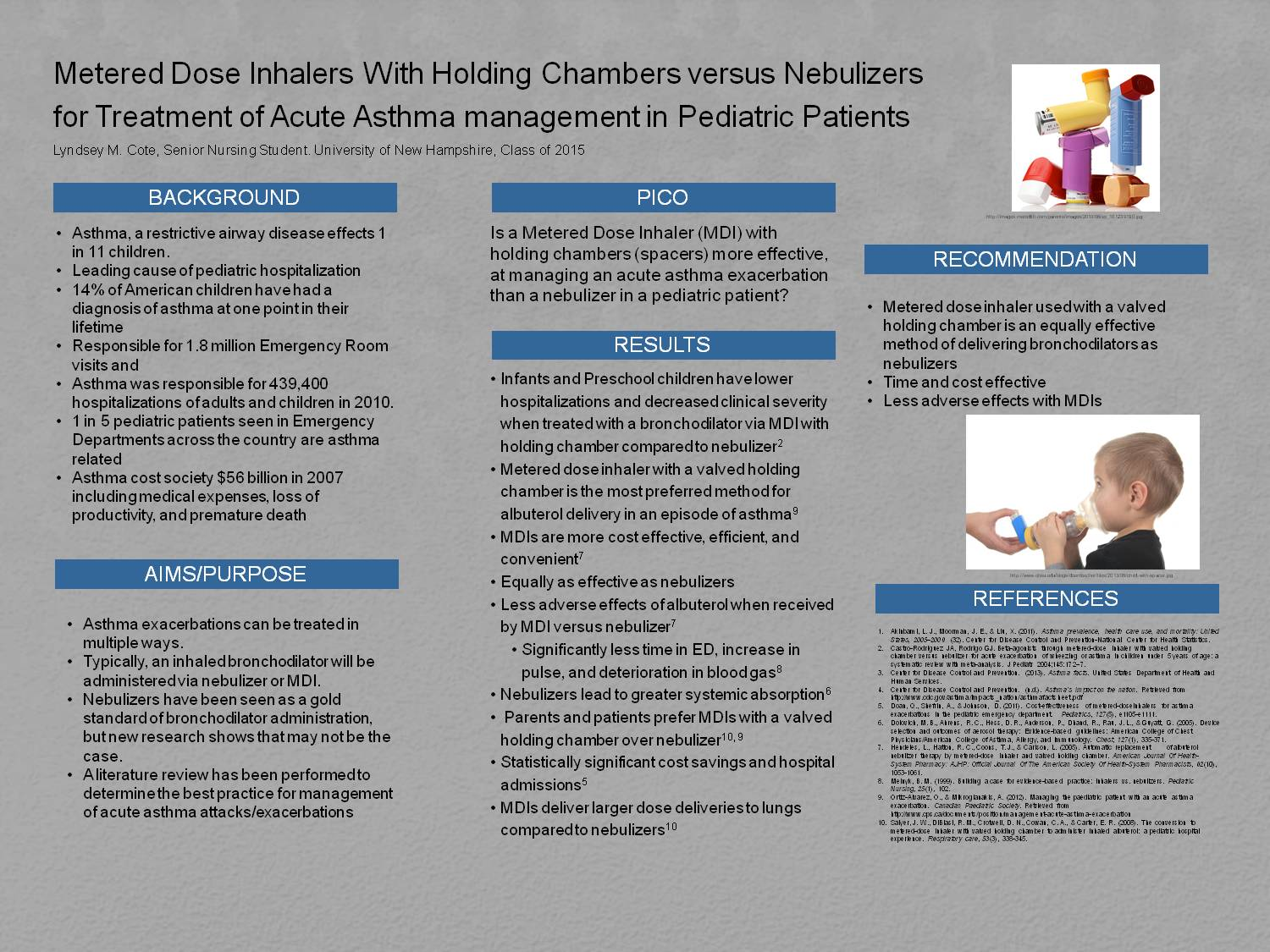 Mdi Vs Nebulizers For Treatment Of Pediatric Asthma by lmn223