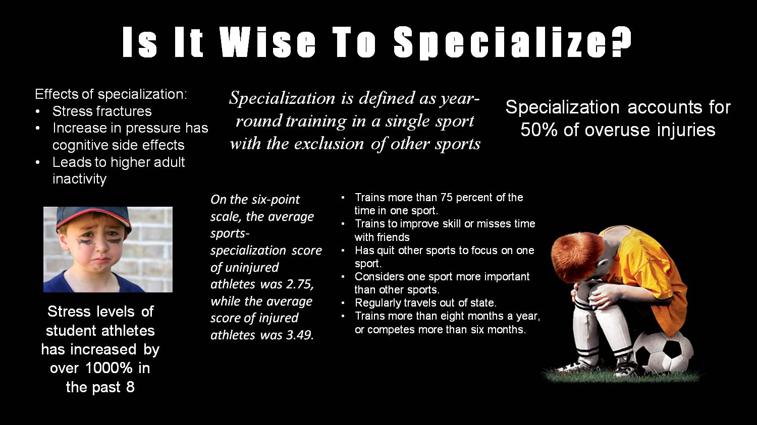 Is It Wise To Specialize? by lrq32