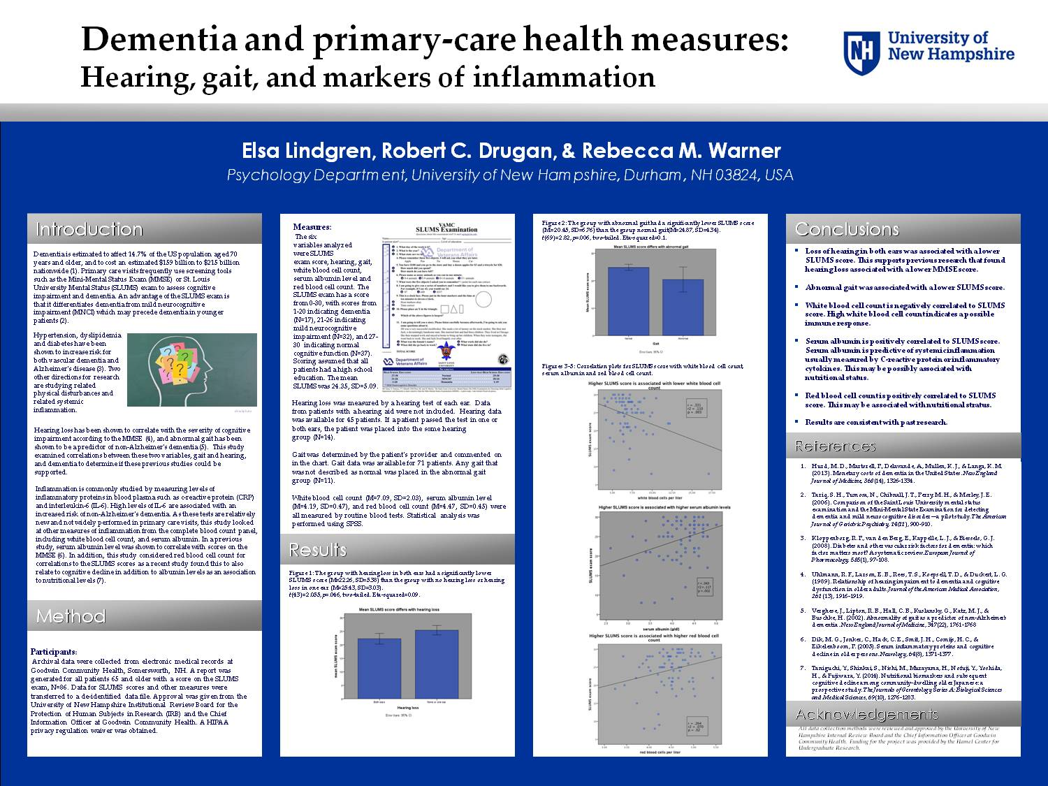Dementia And Primary-Care Health Measures: Hearing, Gait And Markers Of Inflammation by eru43