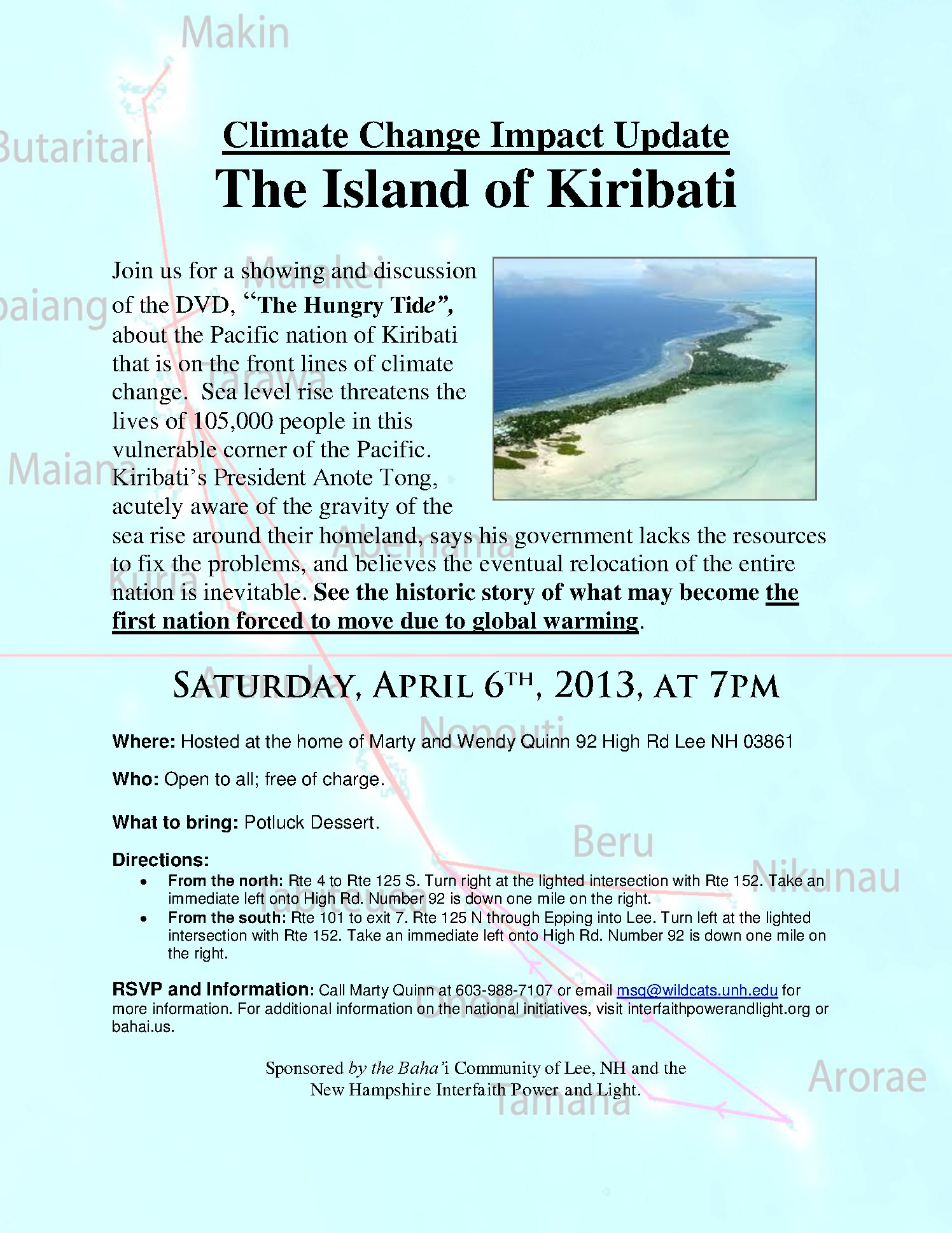 Climate Change Update: The Island Of Kiribati by marty