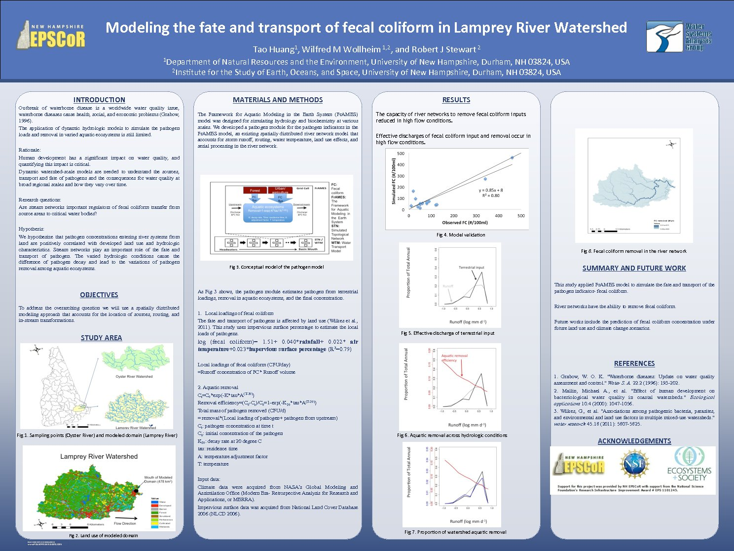 Modeling The Fate And Transport Of Fecal Coliform In Lamprey River Watershed by tao_1988