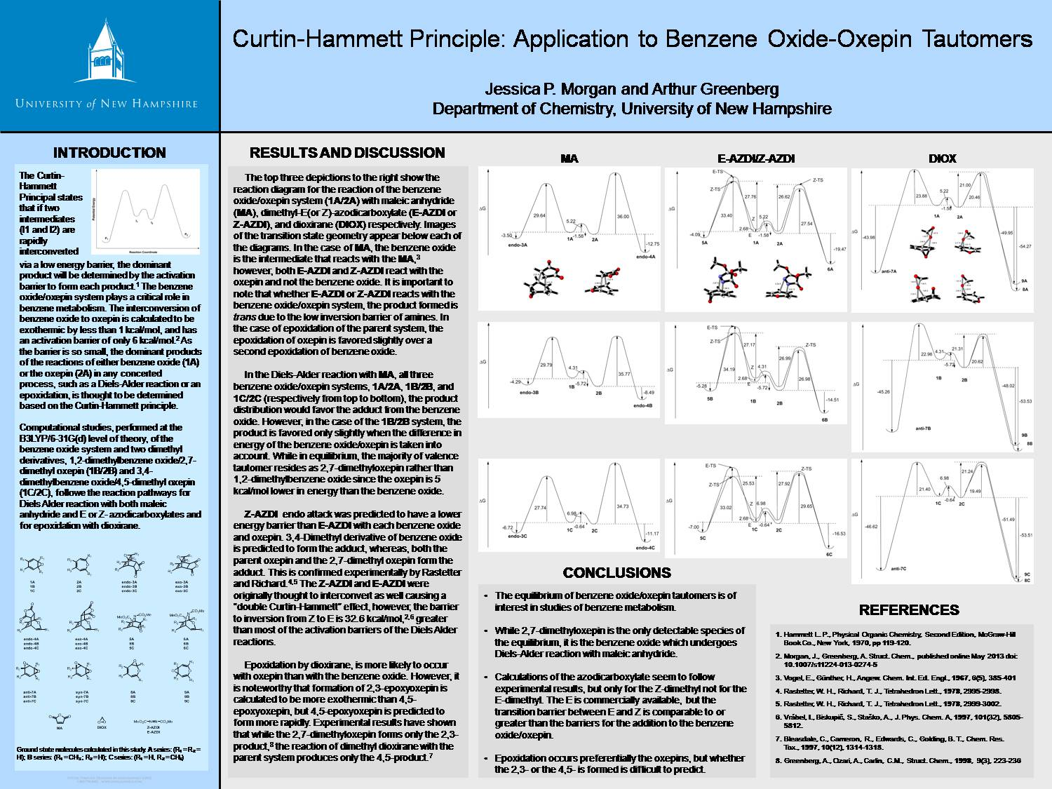 Curtin-Hammett Principle: Application To Benzene Oxide-Oxepin Tautomers by jessmorgan1178