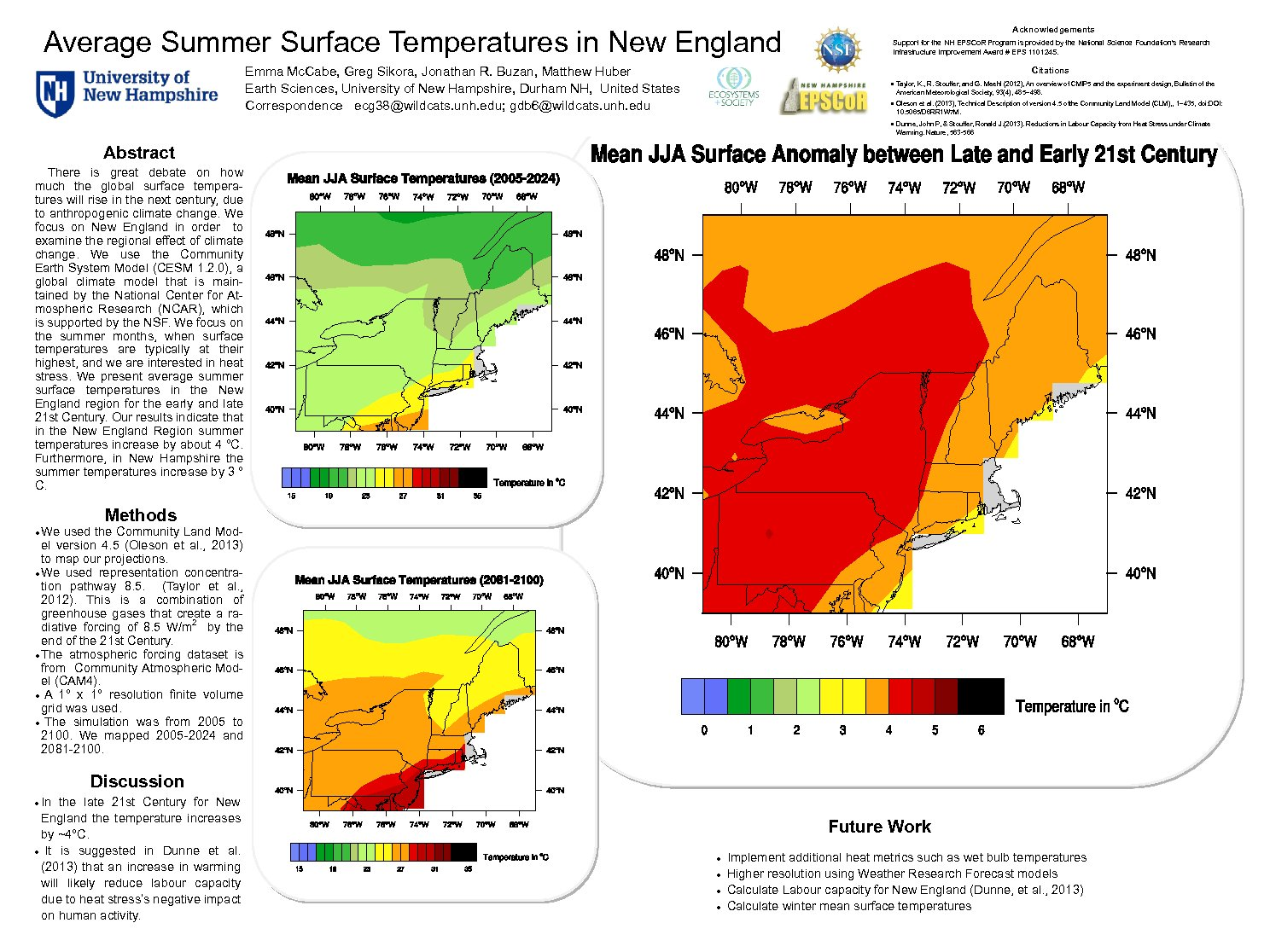 Average Summer Surface Temperatures In New England by ecg38