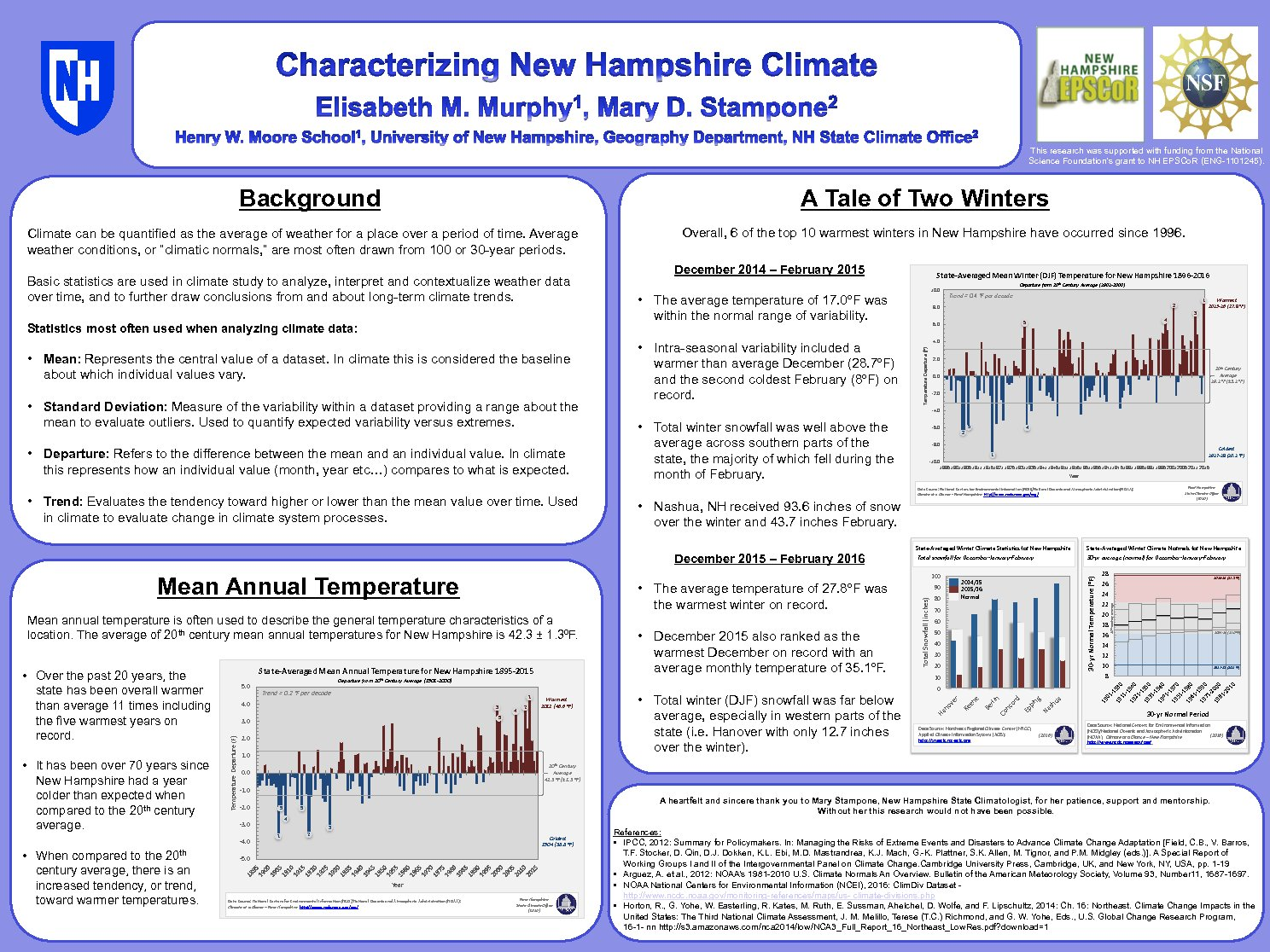 Characterizing New Hampshire Climate by emurphy
