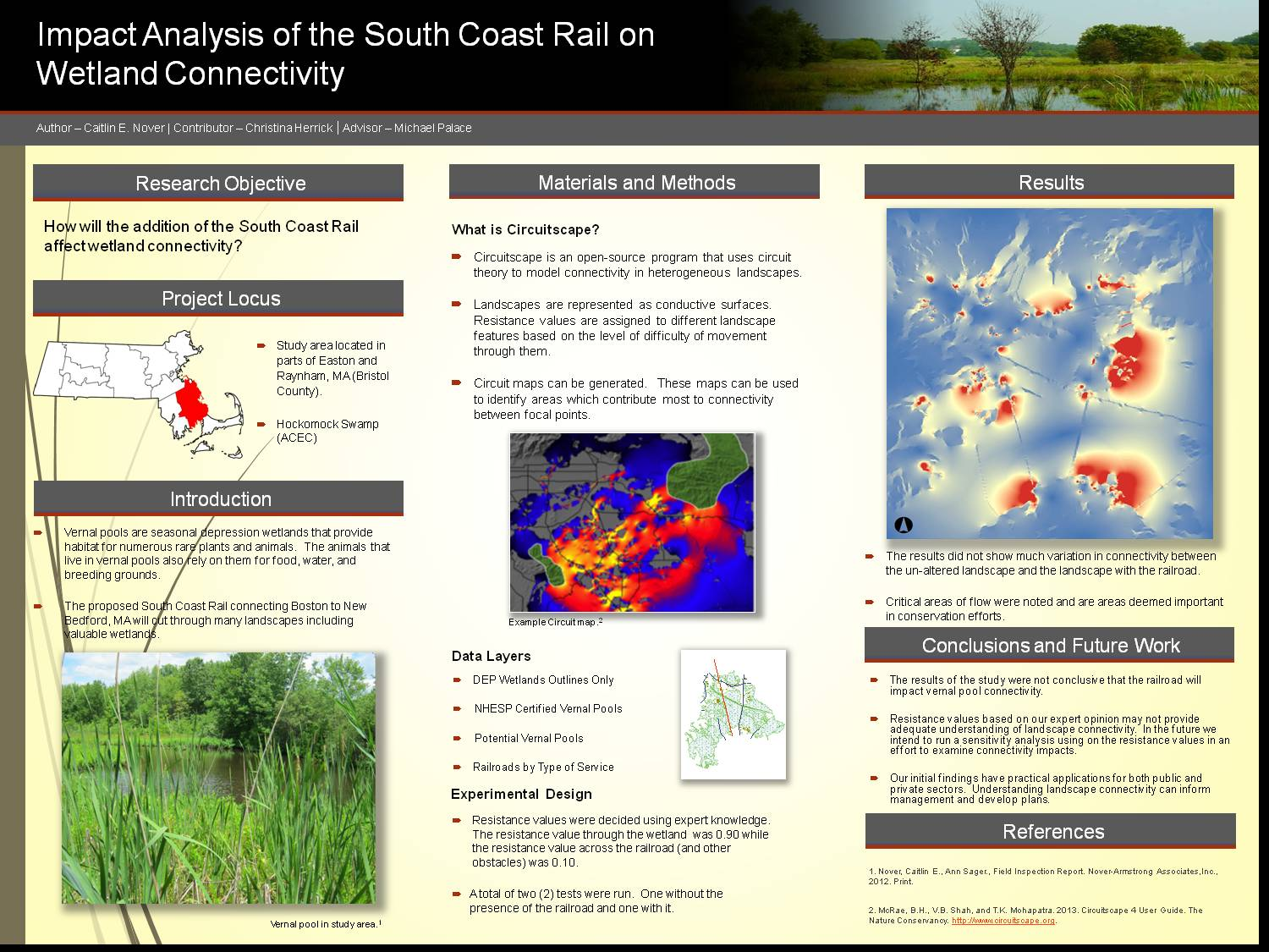 Impact Analysis Of The South Coast Rail On Wetland Connectivity by cnover