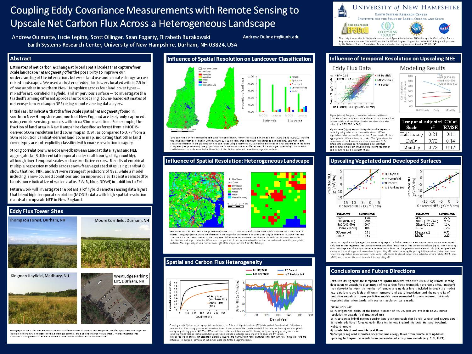 Coupling Eddy Covariance Measurements With Remote Sensing To Upscale Net Carbon Flux Across A Heterogeneous Landscape by lucie