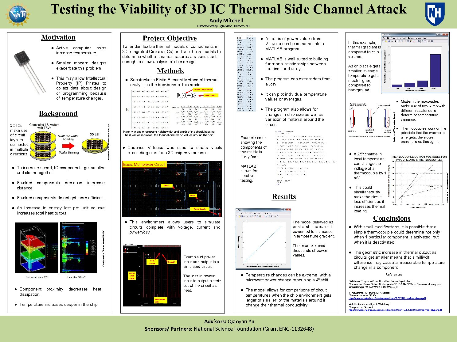 Testing The Viability Of 3d Ic Thermal Side Channel Attack by andym