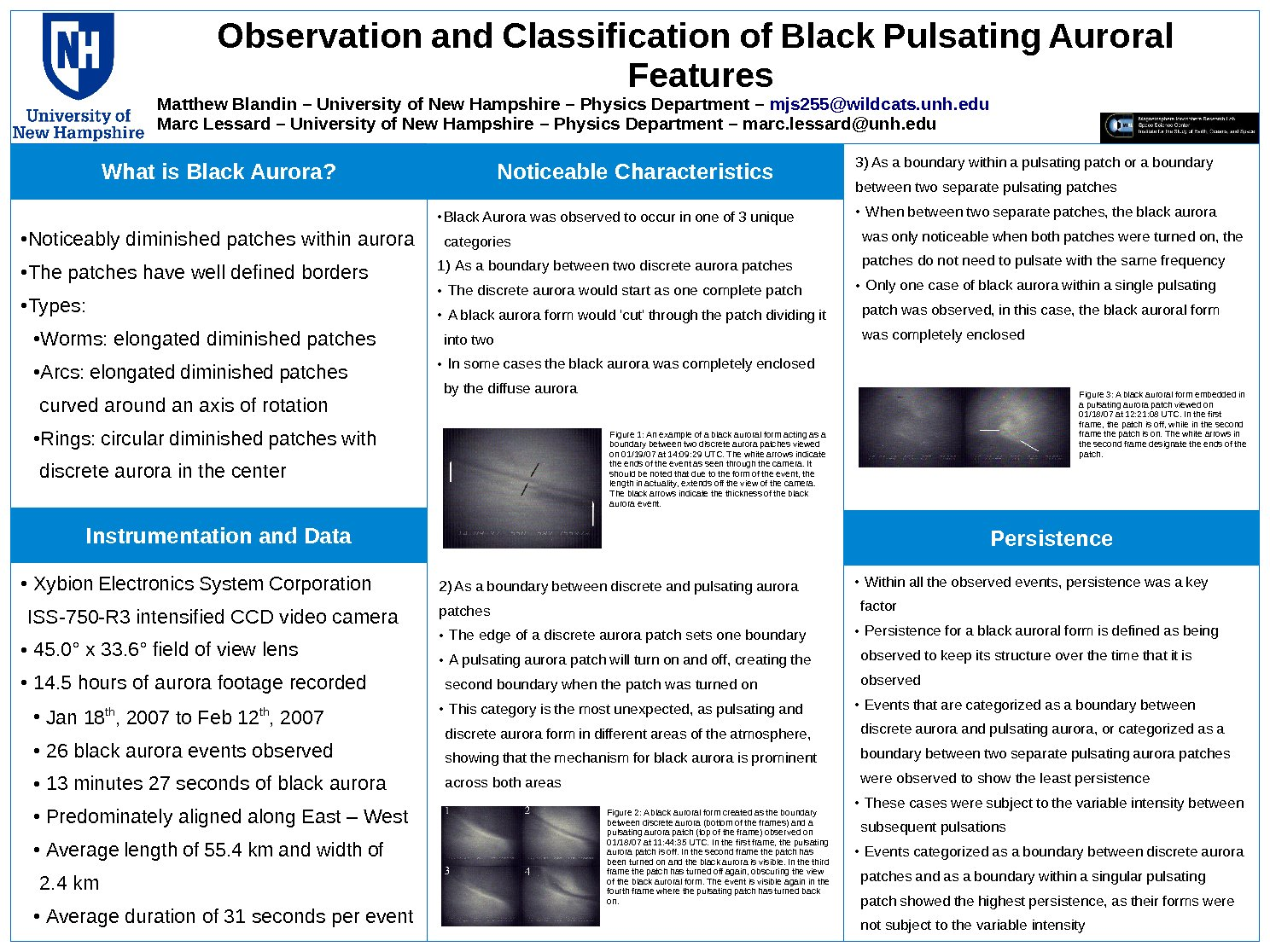 Observations And Classifications Of Black Pulsating Aurora by Mjs255
