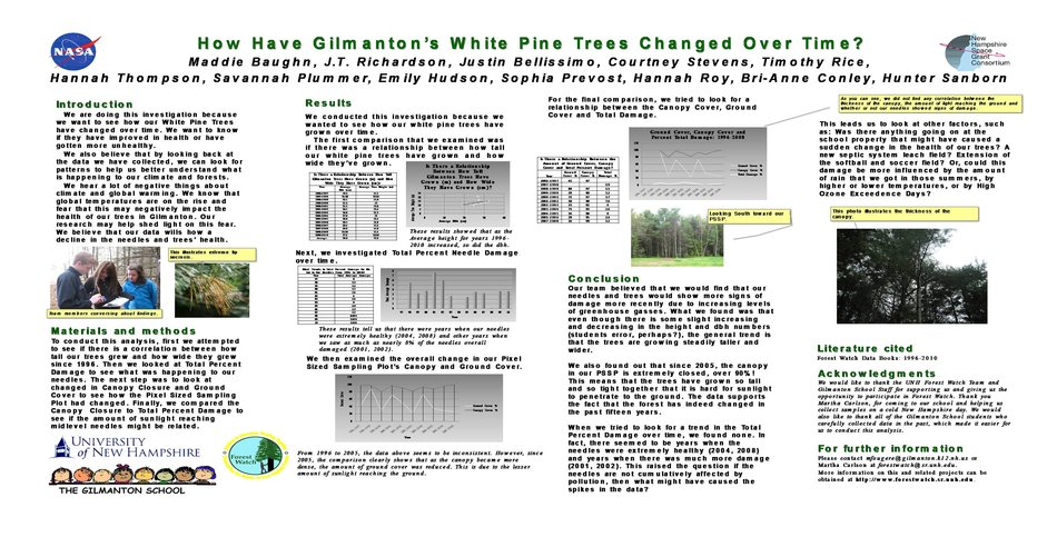 How Have Gilmanton'S White Pine Trees Changed Over Time? by mrg39