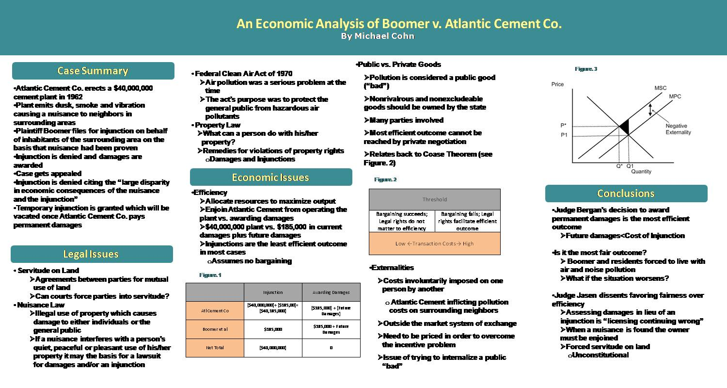 An Economic Analysis Of Boomer V. Atlantic Cement Co. by mrs65