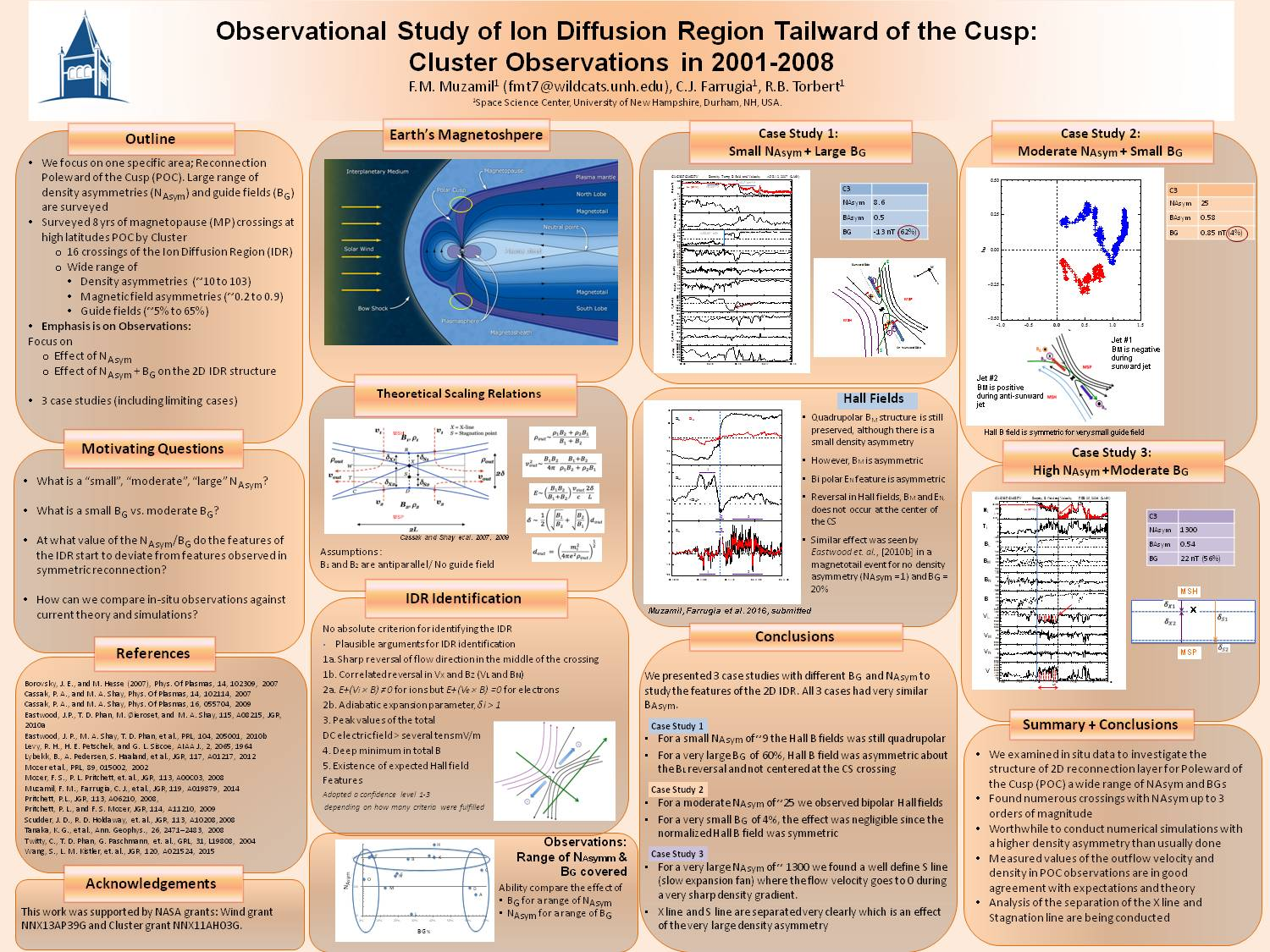 Observational Study Of Ion Diffusion Region Tailward Of The Cusp: Cluster Observations In 2001-2008  by Muzleena