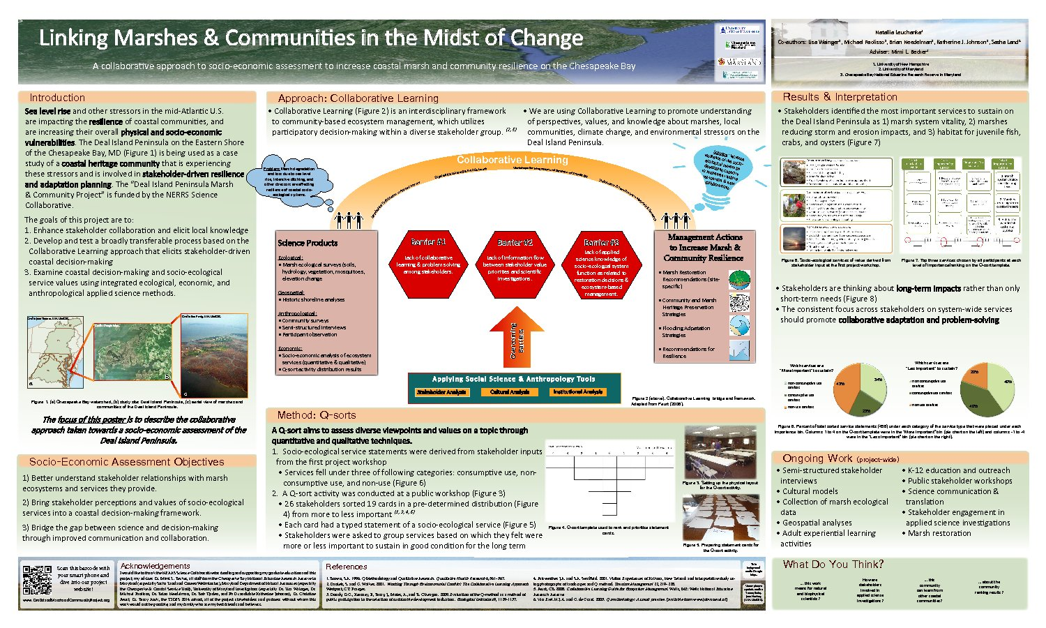 A Collaborative Approach To Socio-Economic Assessment To Increase Coastal Marsh And Community Resilience On The Chesapeake Bay by nhe4