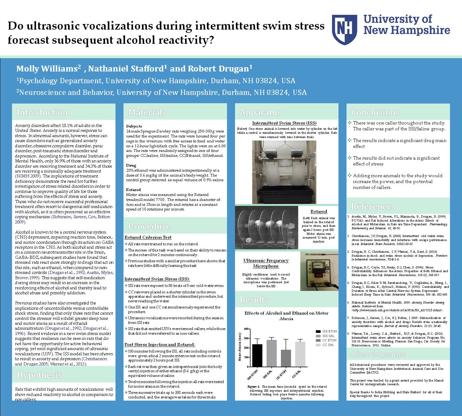 Do Ultrasonic Vocalizations During Intermittent Swim Stress Forecast Subsequent Alcohol Reactivity? by nhj9