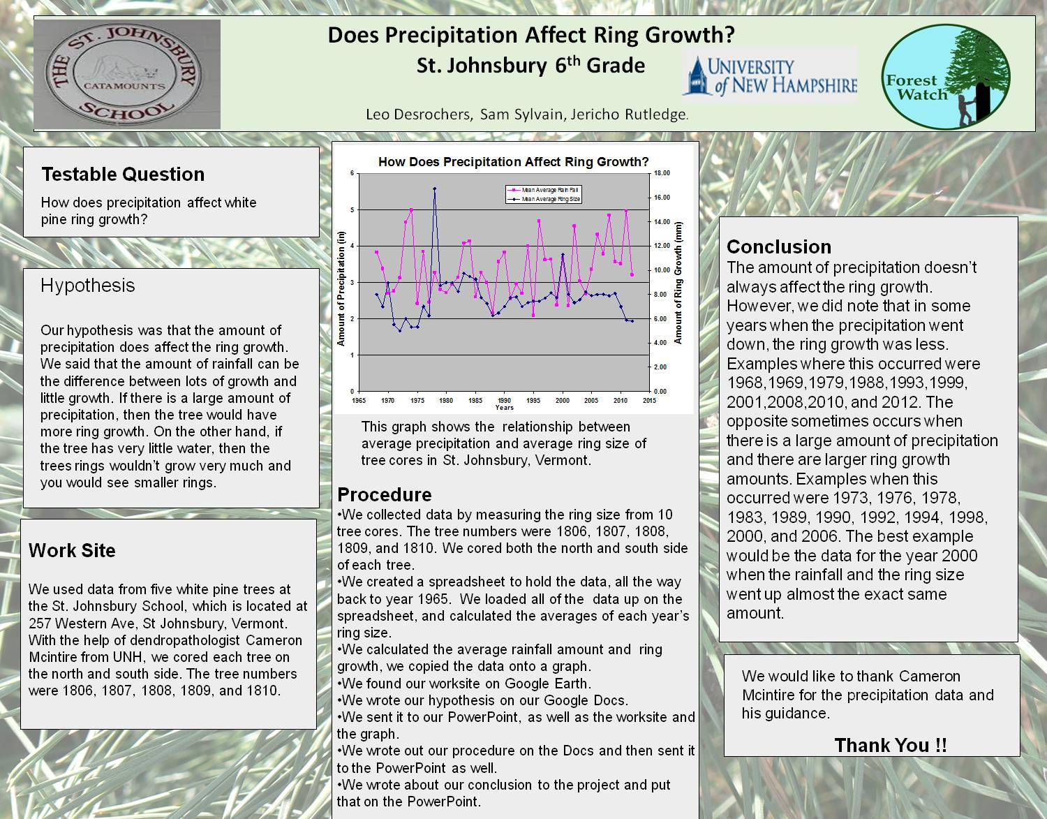 Does Precipitation Affect Ring Growth by obwurzburg