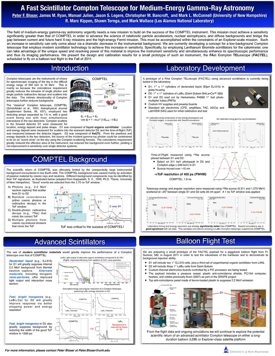 A Fast Scintillator Compton Telescope For Medium-Energy Gamma-Ray Astronomy by pbloser