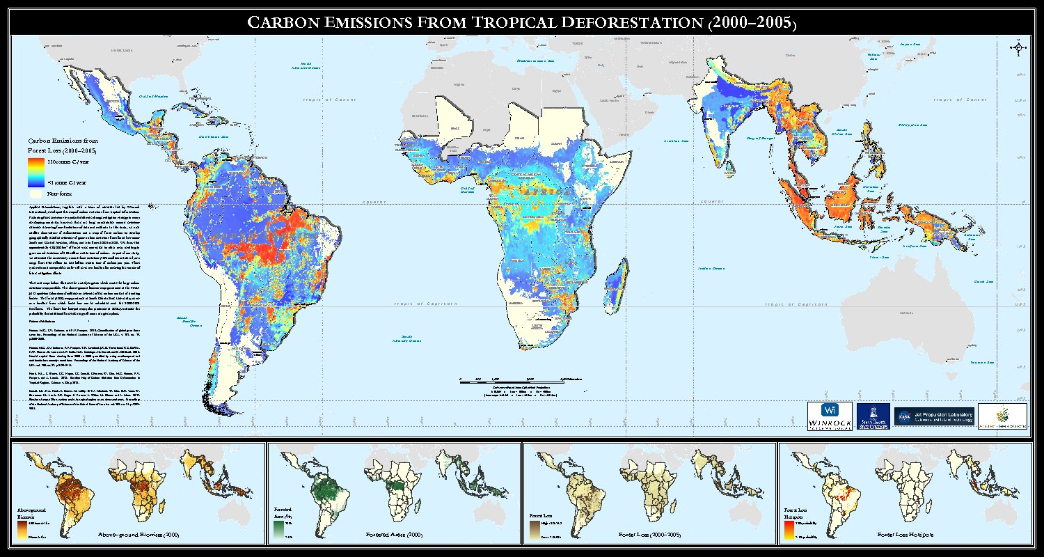 Carbon Emissions From Tropical Deforestation (2000-2005) by ping