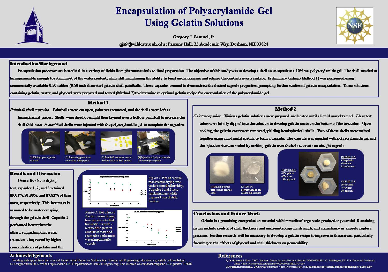 Encapsulation Of Polyacrylamide Gel  by srhale