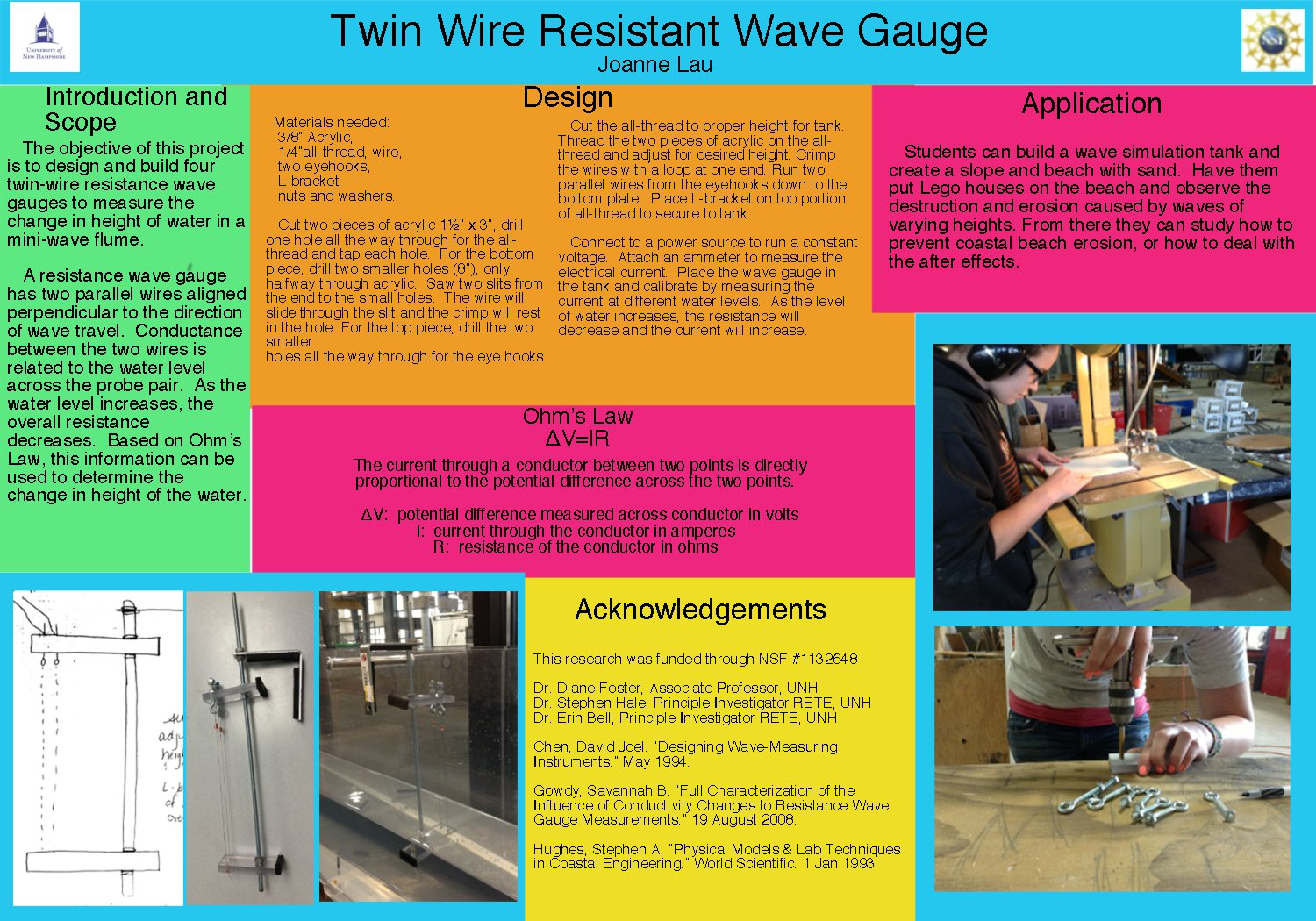 Twin Wire Resistant Wave Gauge by srhale