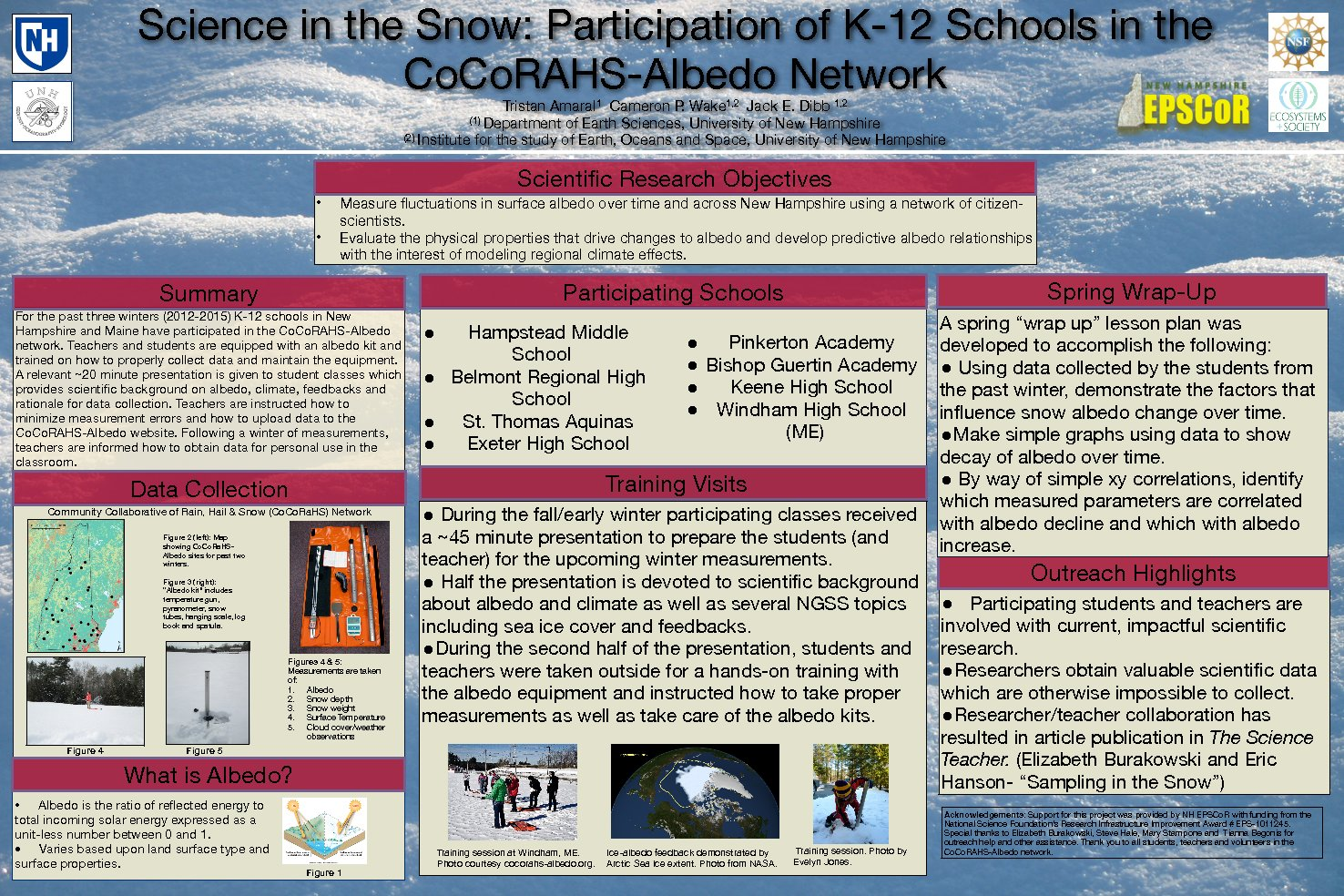 Science In The Snow: Participation Of K-12 Educators In The Cocorahs-Albedo Network by tov4