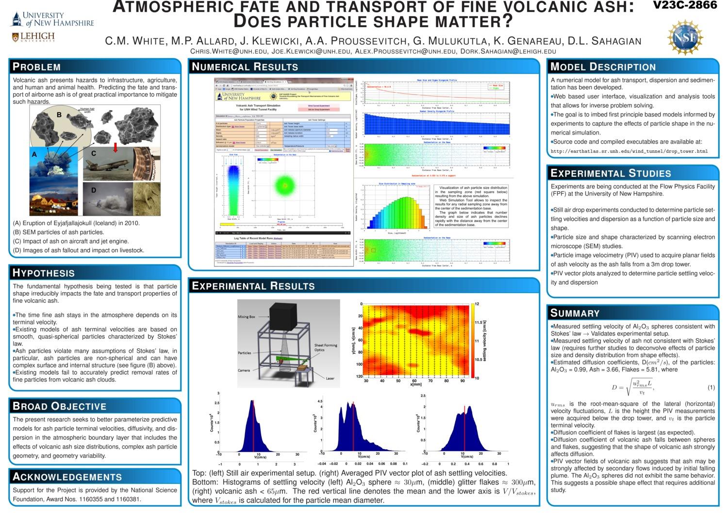 Atmospheric Fate And Transport Of Fine Volcanic Ash: Does Particle Shape Matter? by alexp