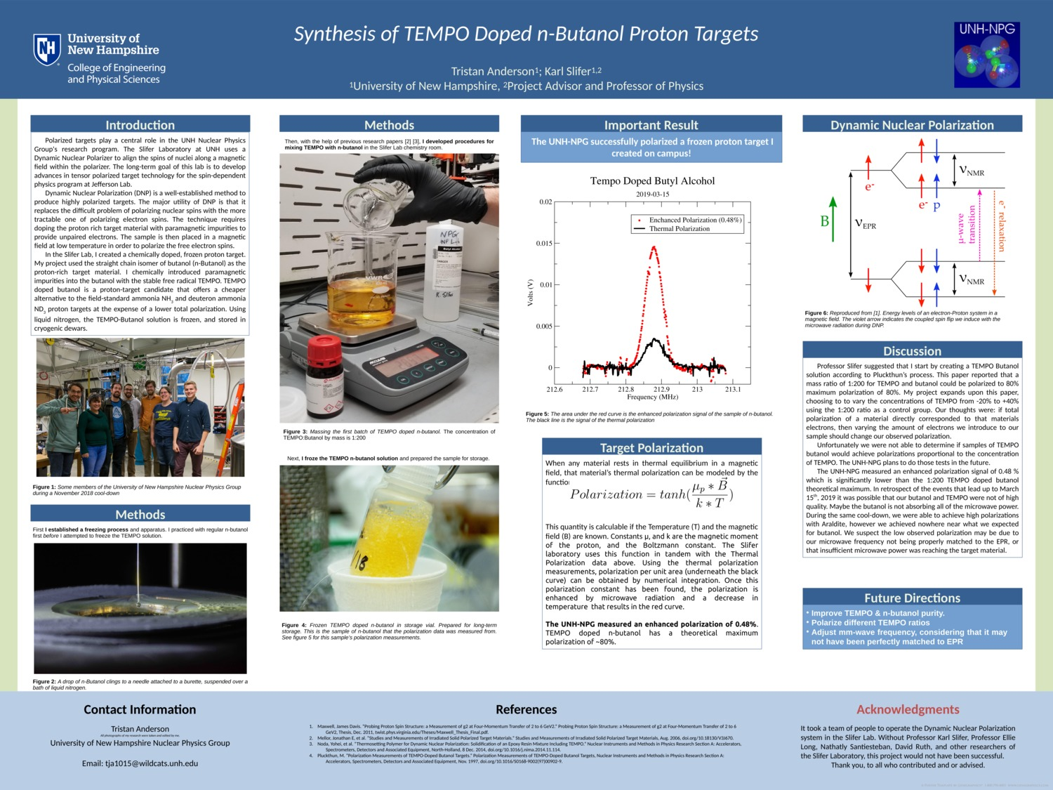 Synthesis Of Tempo Doped N-Butanol Proton Targets by vipers356