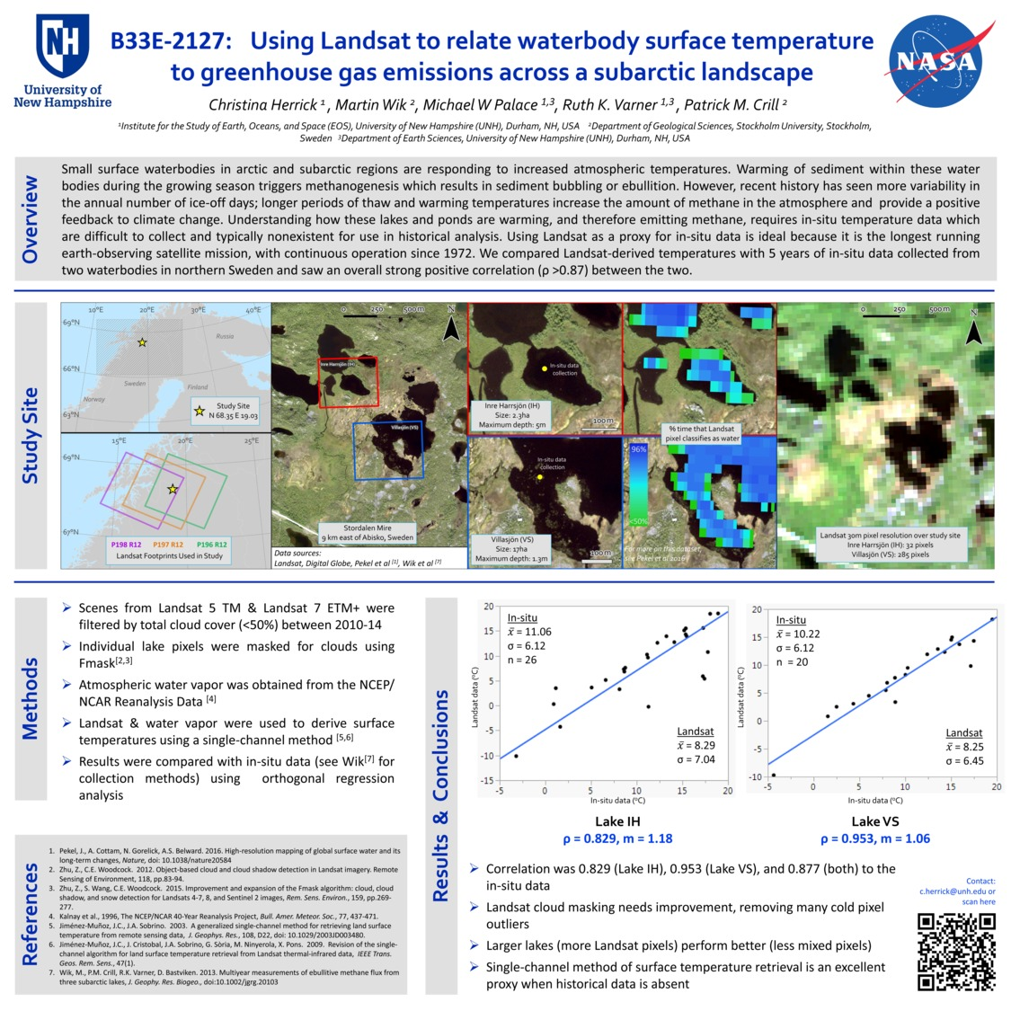Using Landsat To Relate Waterbody Surface Temperature To Greenhouse Gas Emissions Across A Subarctic Landscape by herrick