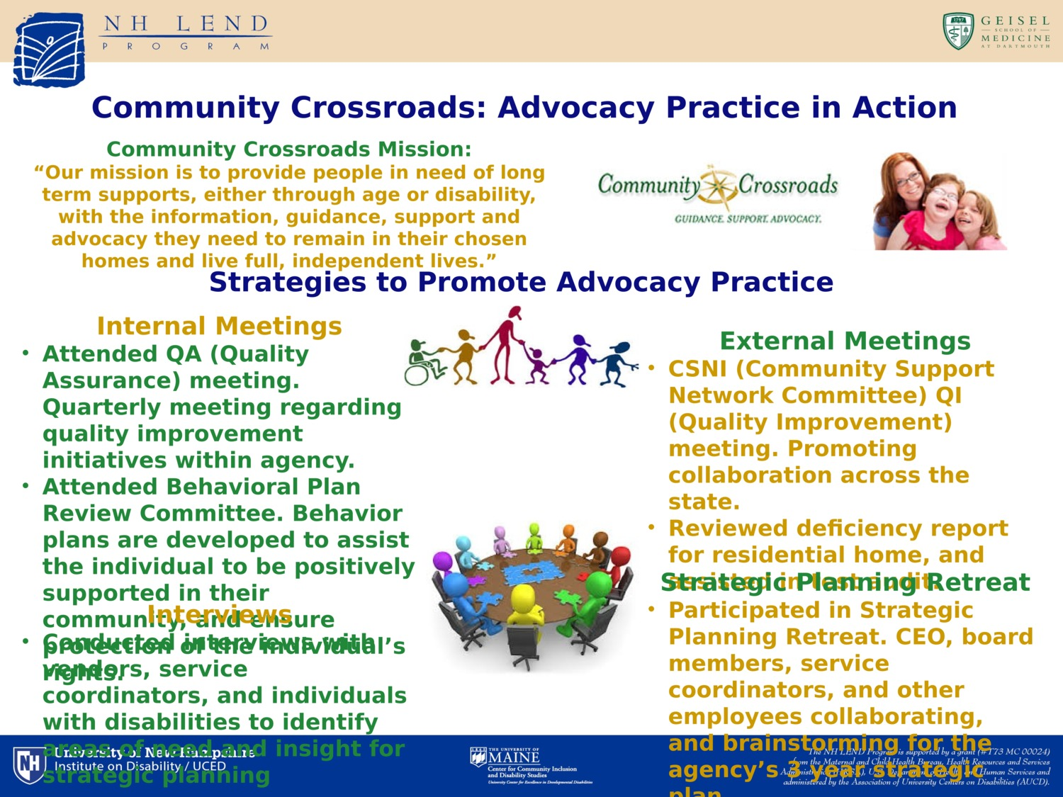 Community Crossroads: Advocacy Practice In Action by aln1